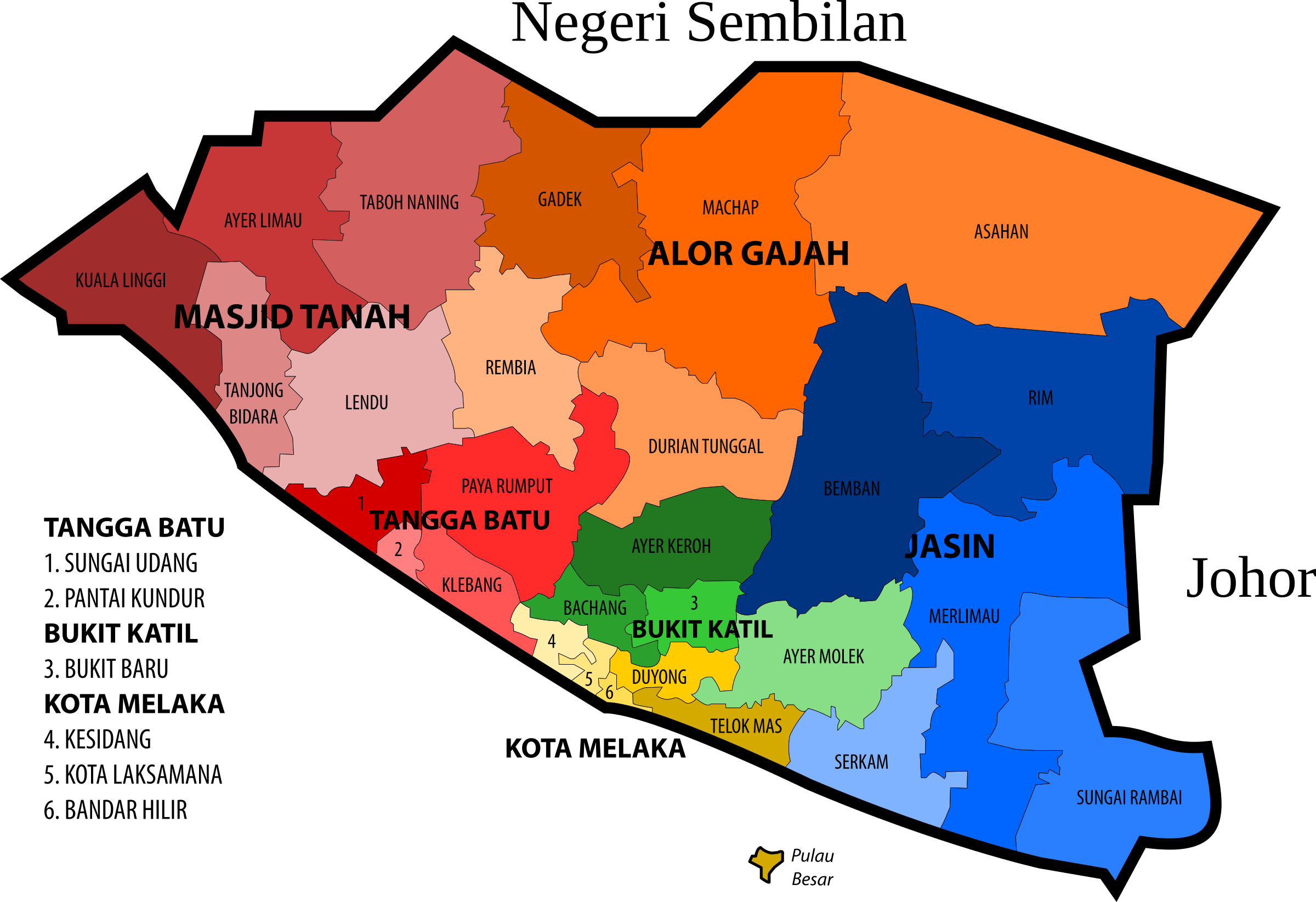 Malacca State Legislative Assembly Constituencies by derkommander0916