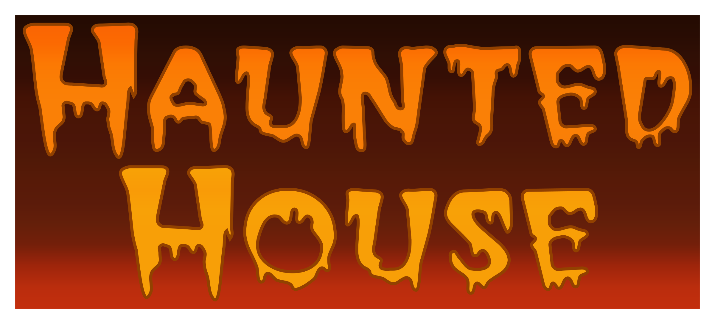 Hounted House Typography by Arvin61r58