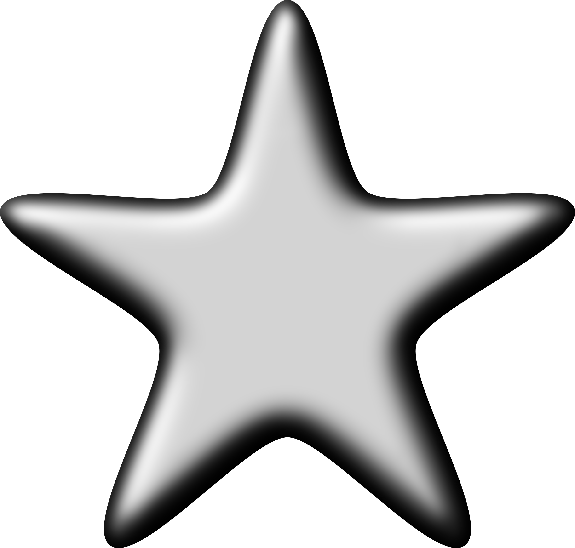 3D Silver Star by Firkin