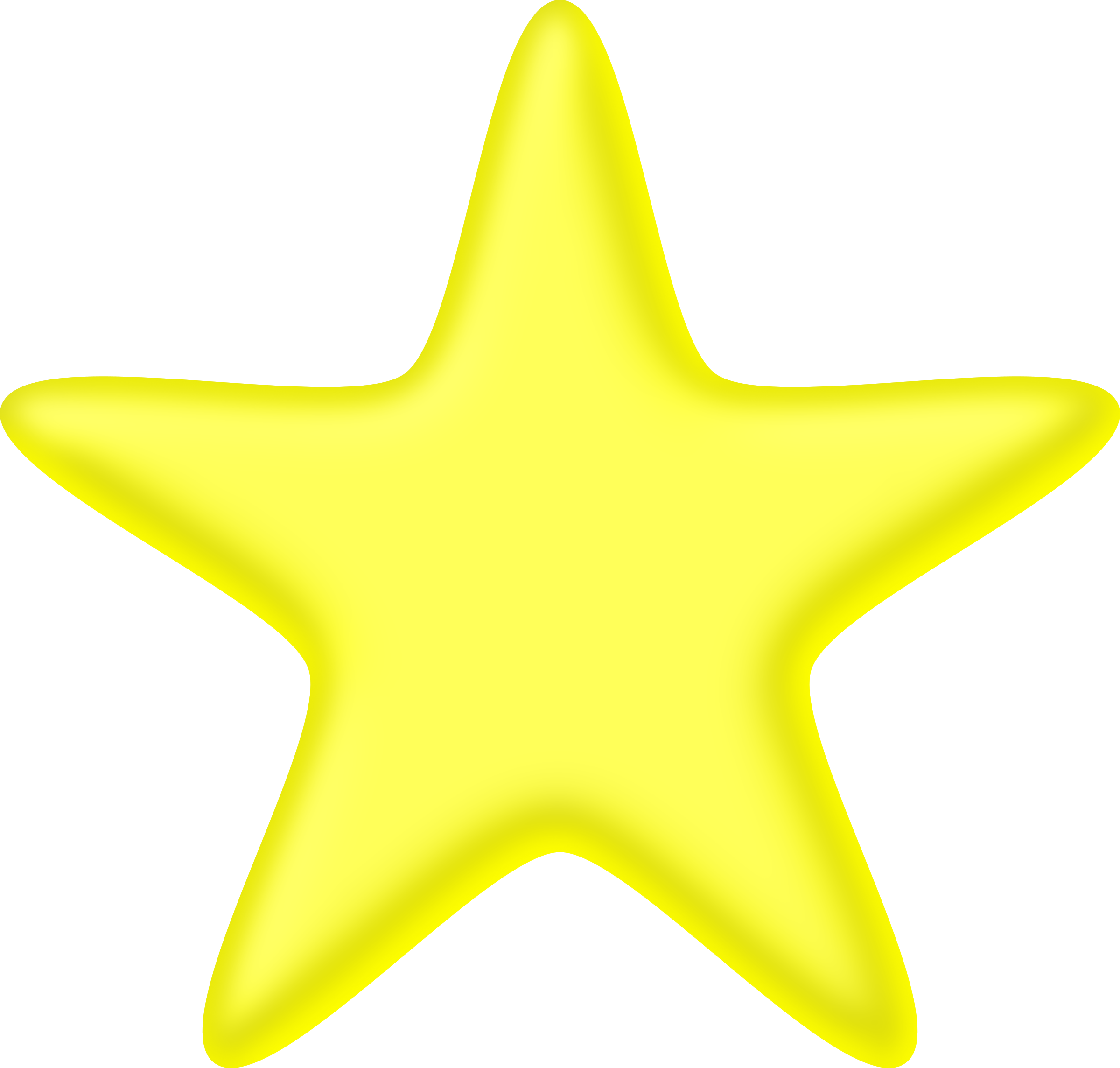 3D yellow star by Firkin