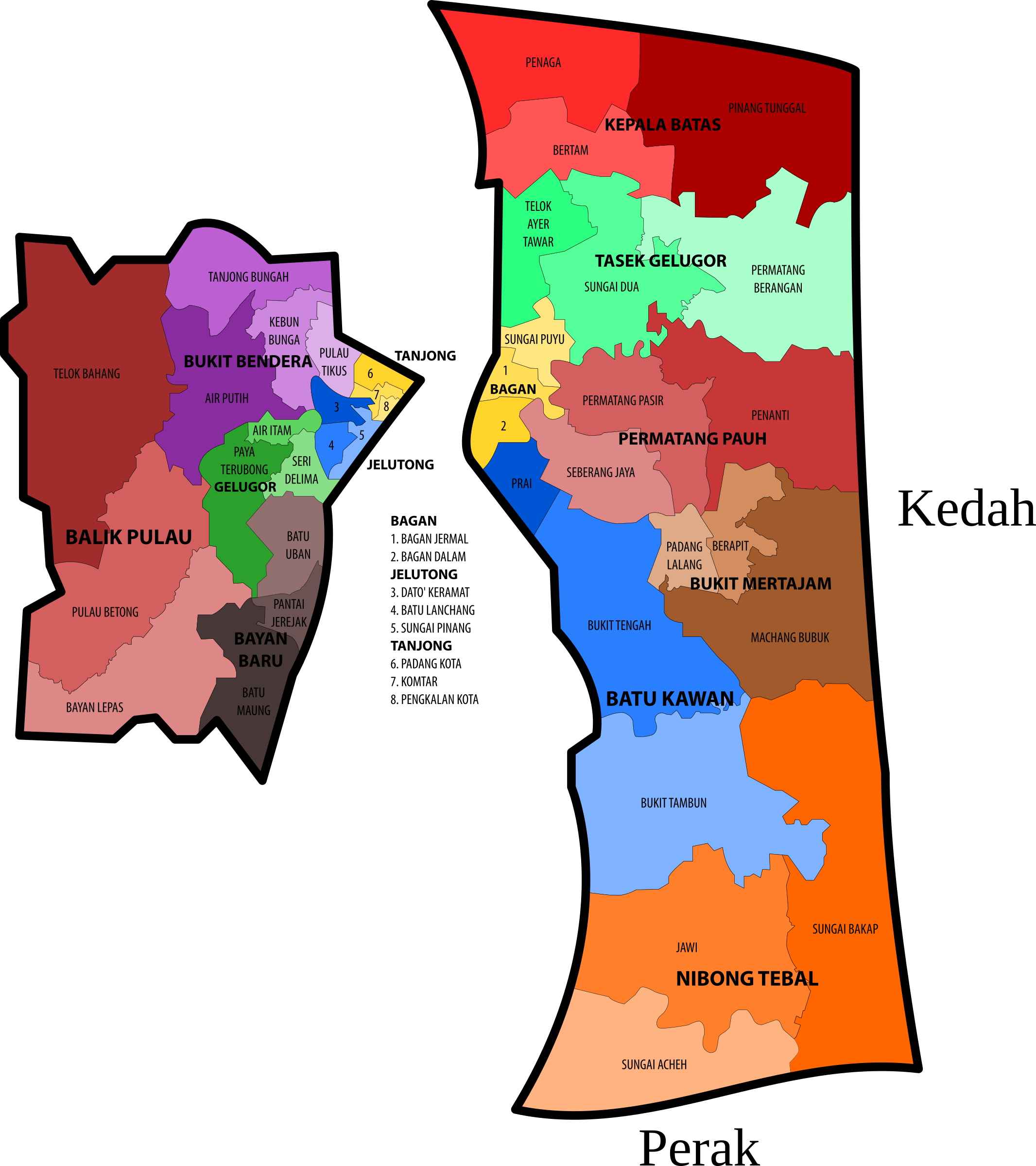 Penang State Legislative Assembly Constituencies by derkommander0916