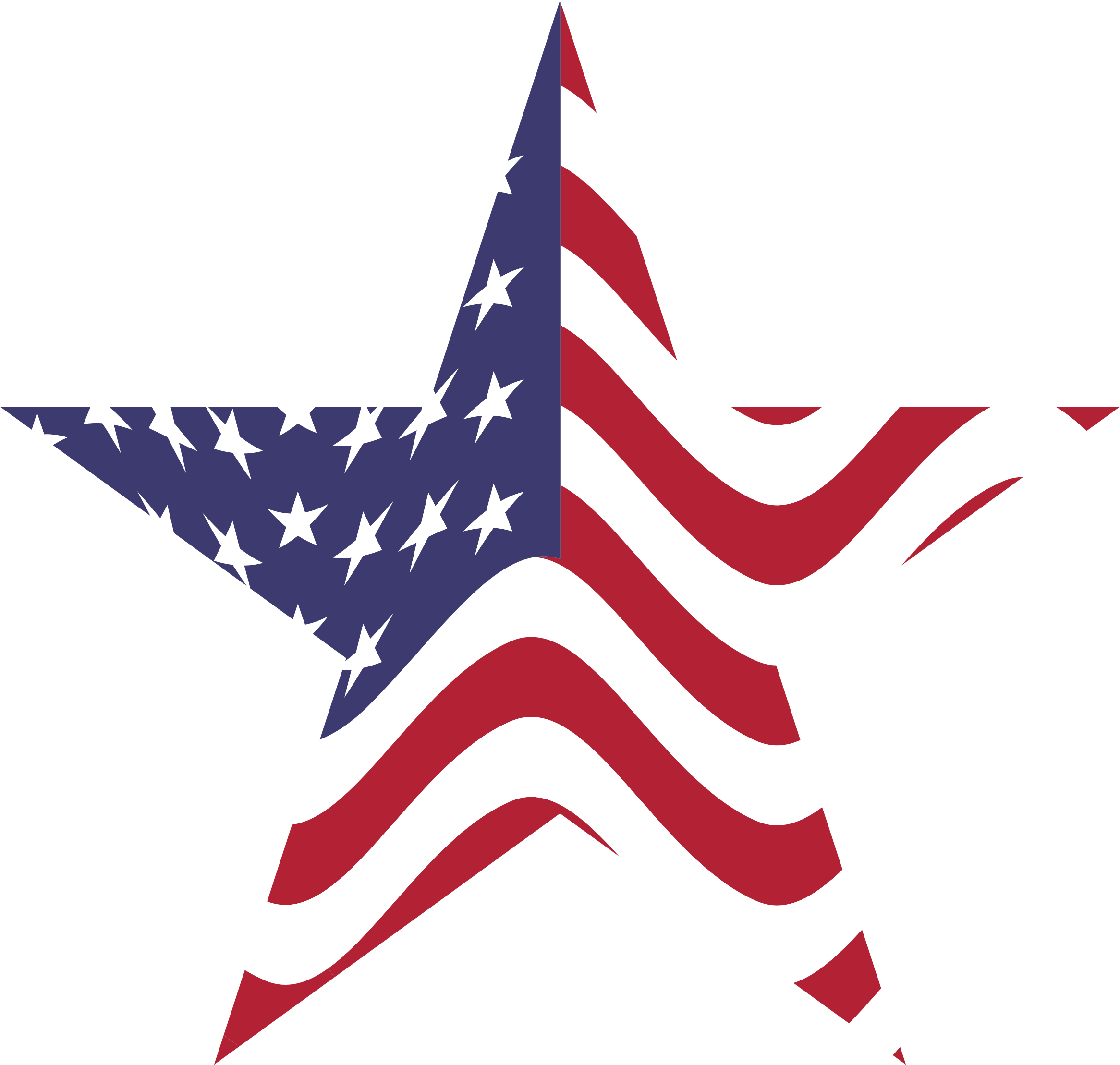 American Flag Star by GDJ