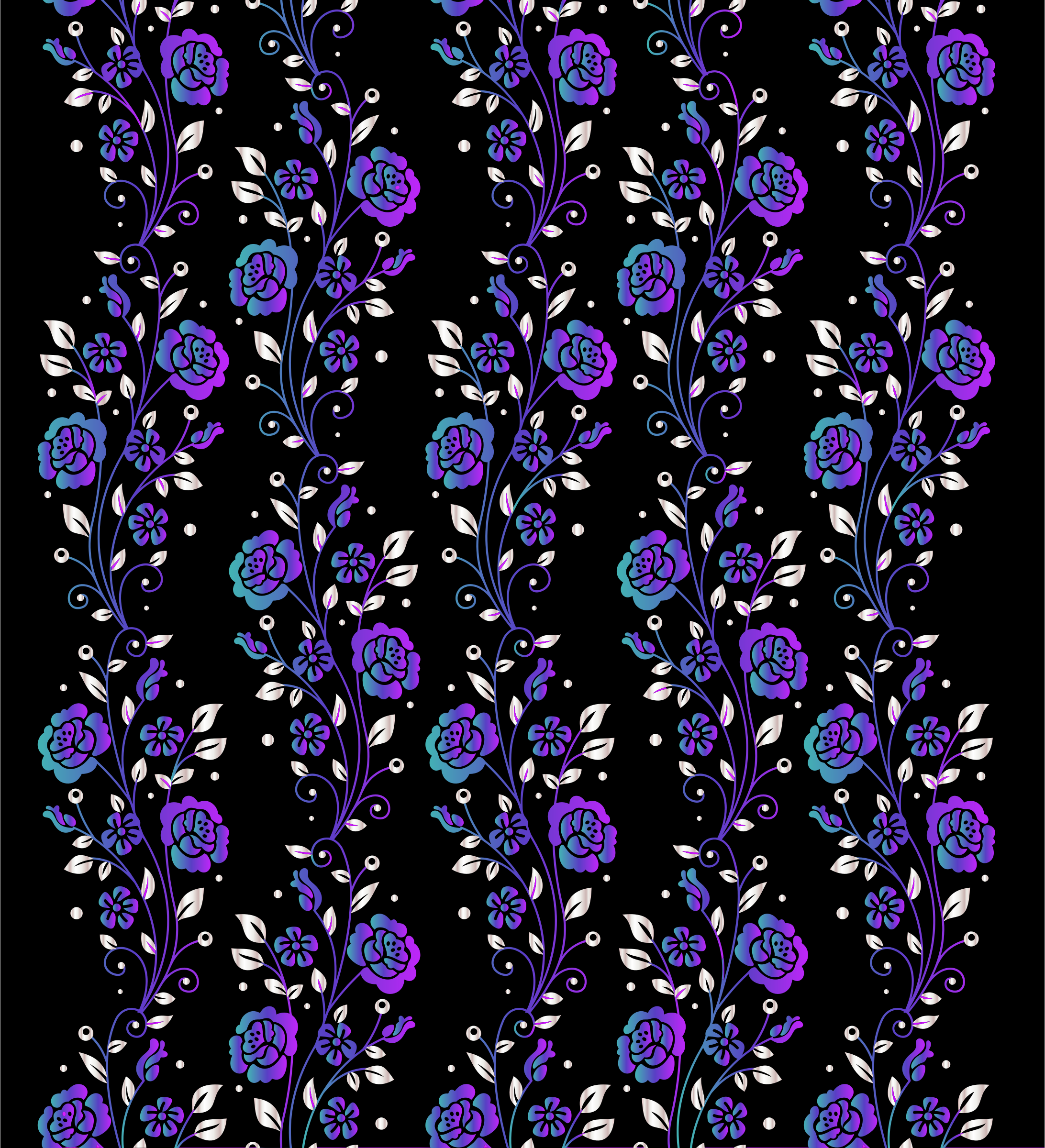 Vertical Floral Pattern Modified 2 by GDJ