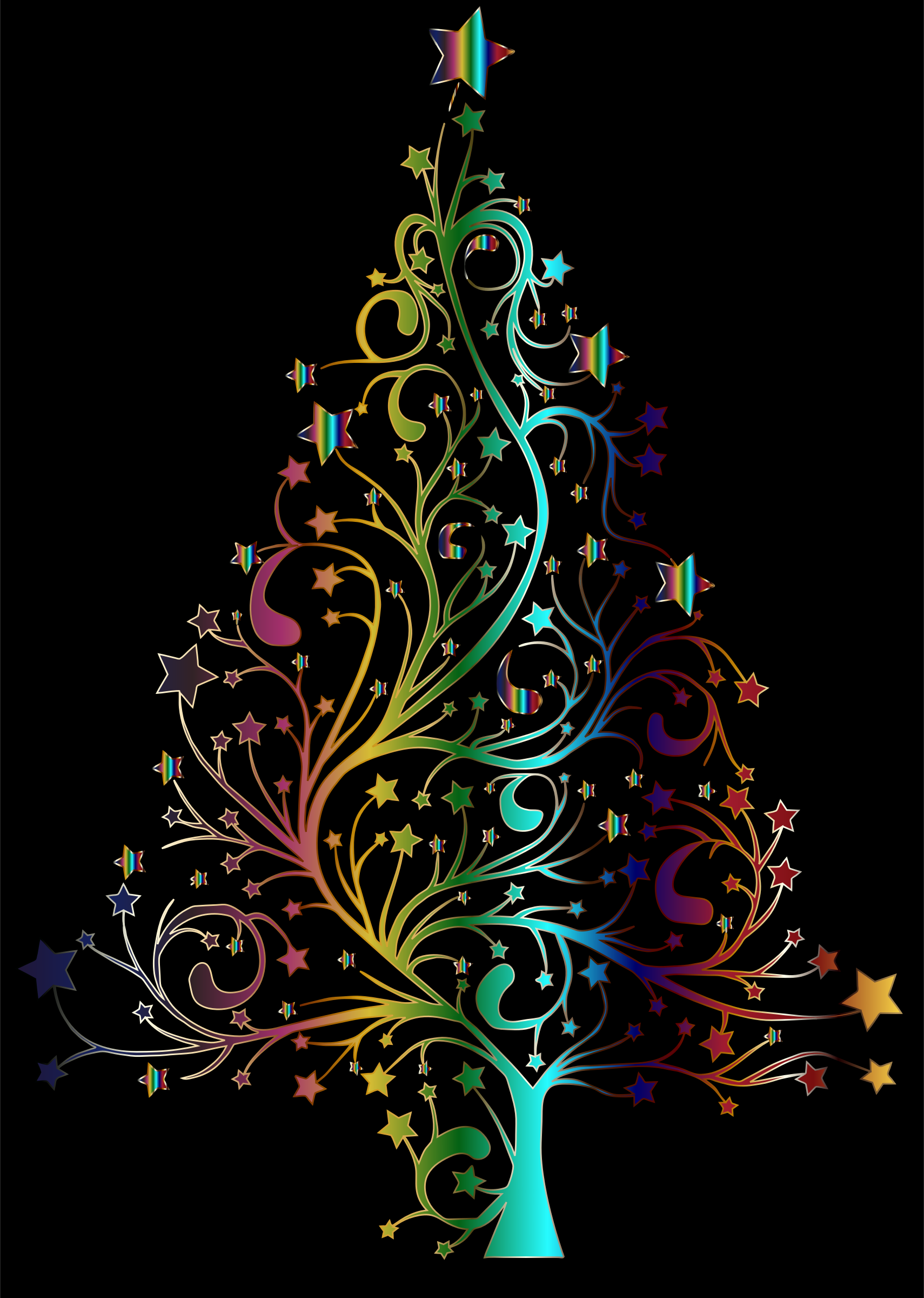 Starry Christmas Tree Prismatic by GDJ