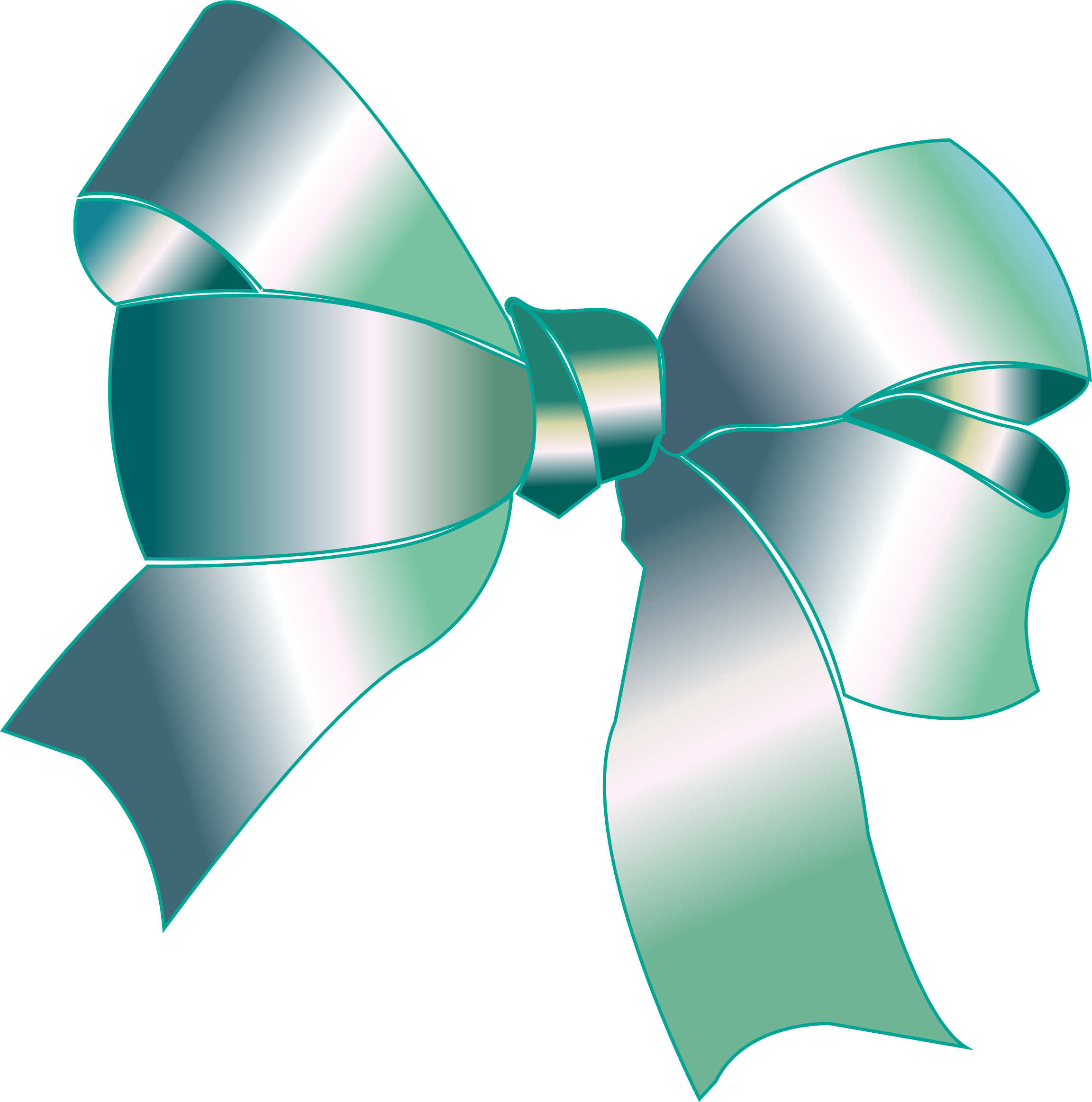 Clipart - Shiny Reflective Silver Ribbon