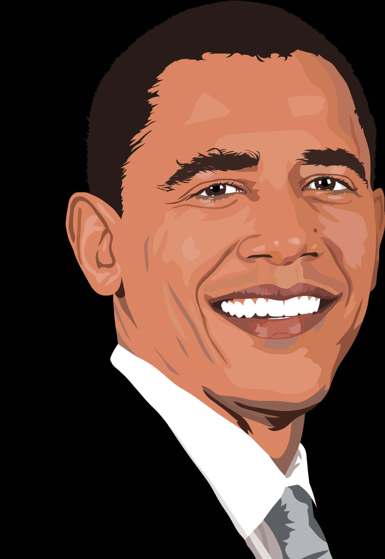 Clipart Realistic Barack Obama Portrait