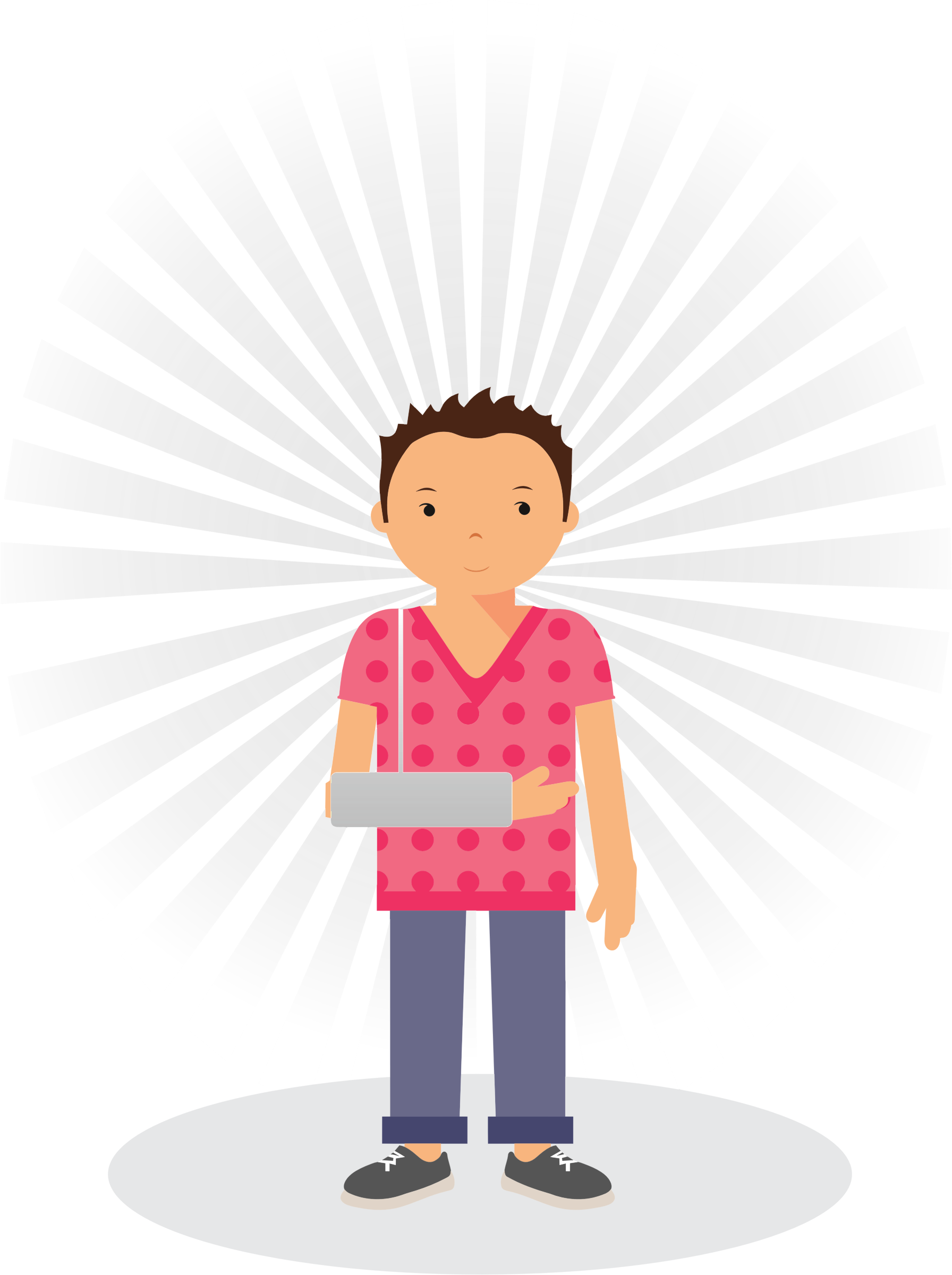 Clipart - Patient With Broken Arm