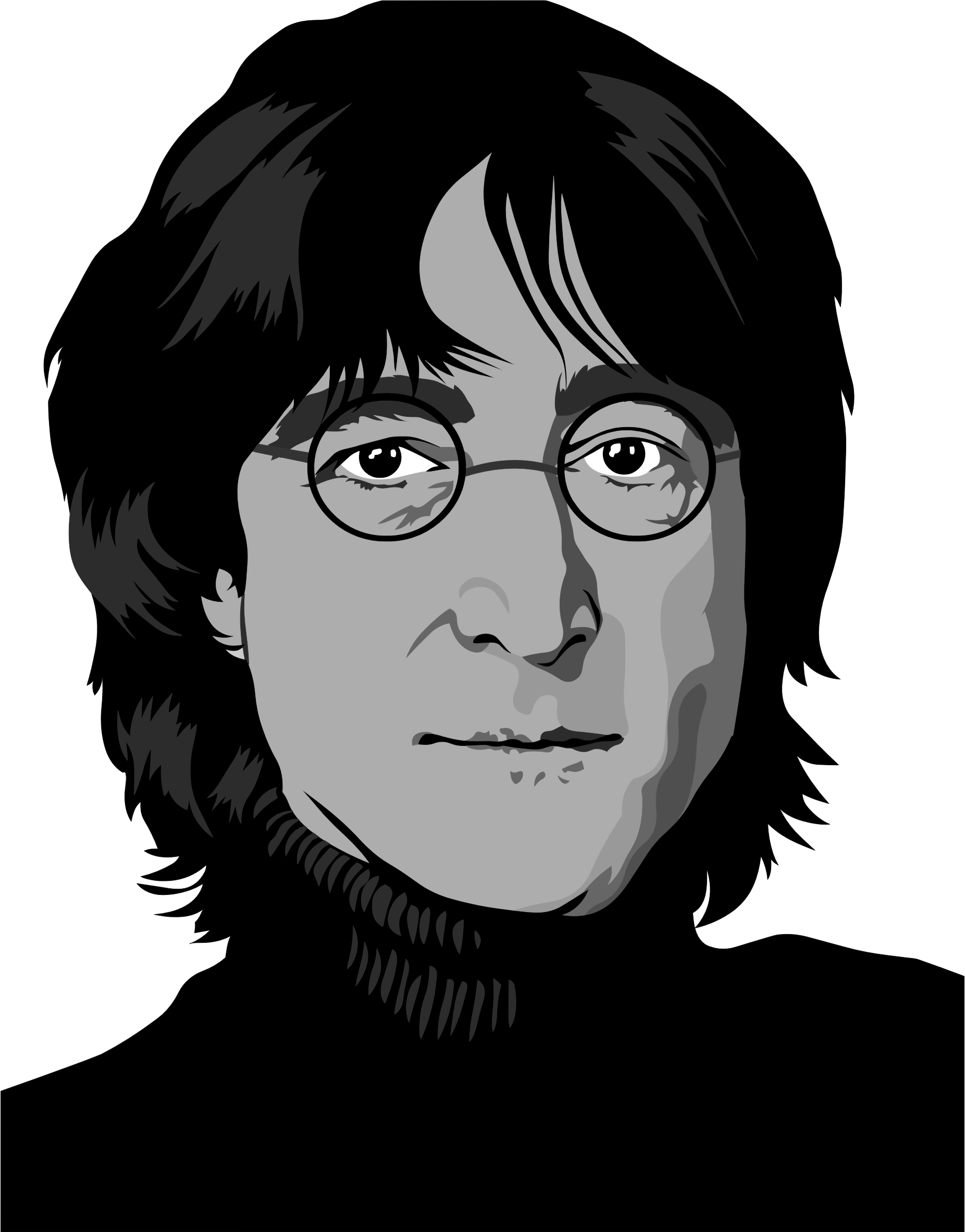 John Lennon Portrait by GDJ