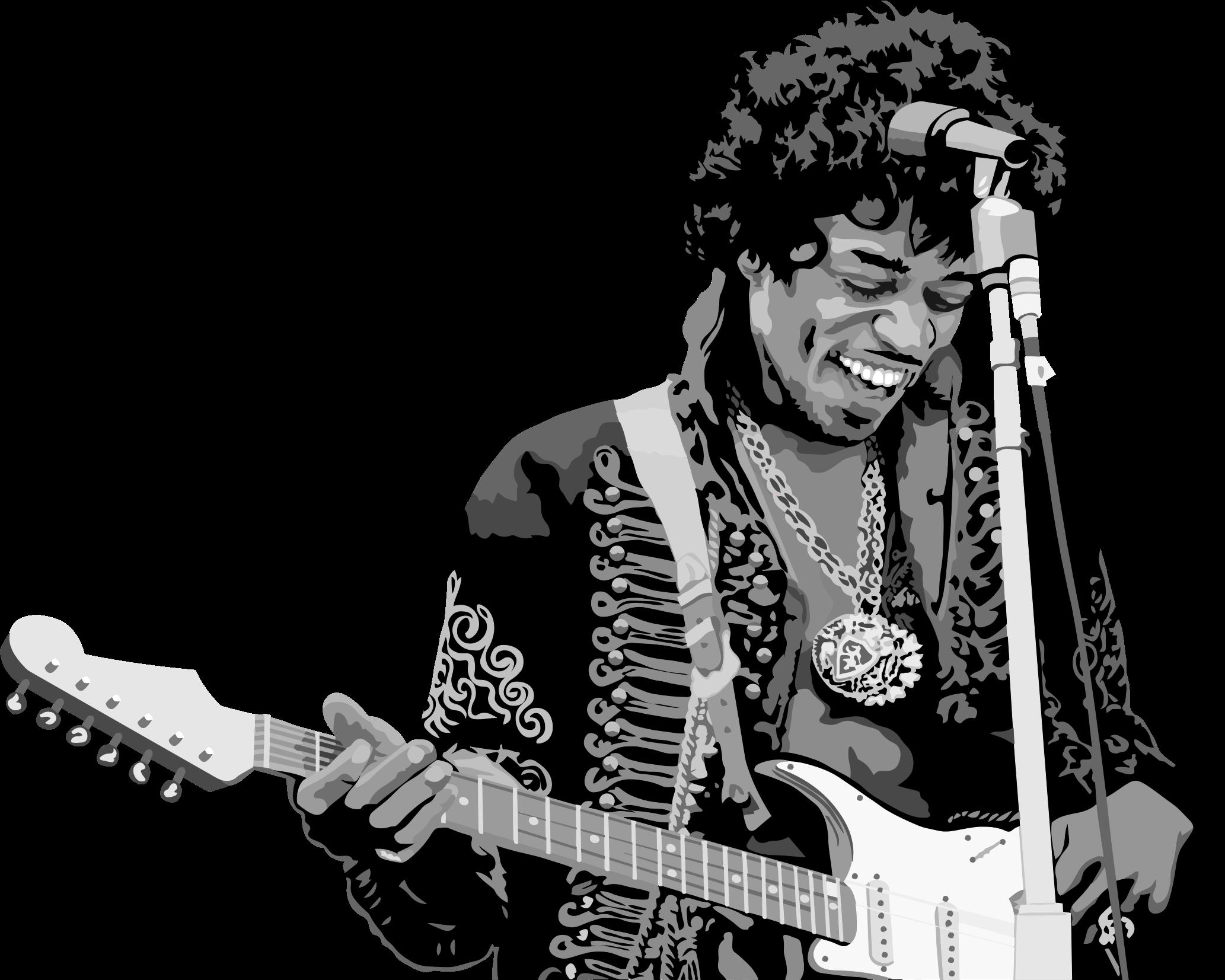 Clipart - Jimi Hendrix Portrait