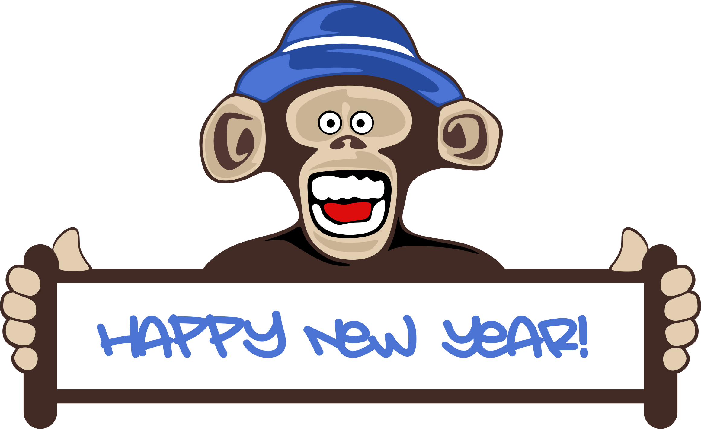 Happy New Year Monkey by GDJ