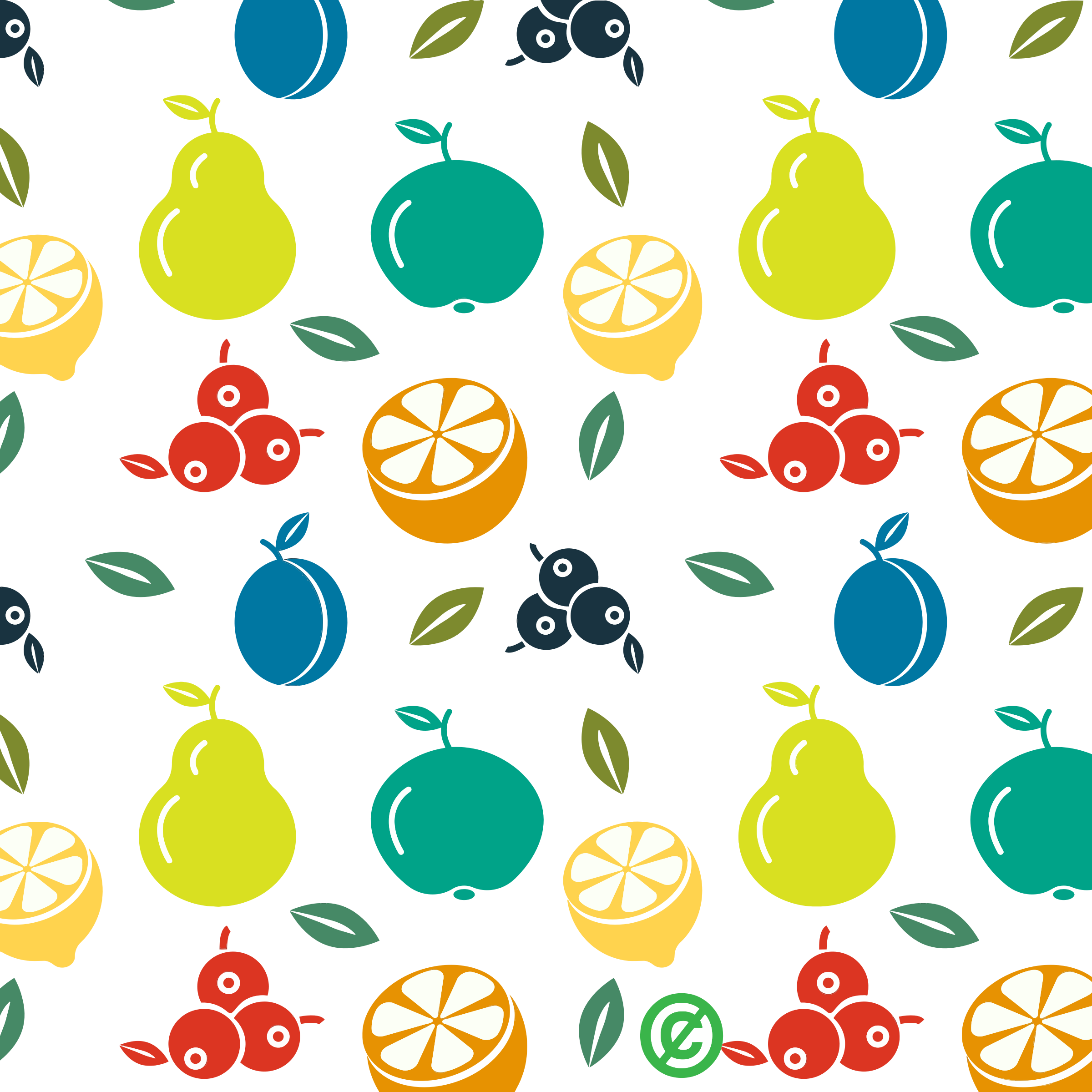 clipart fruit pattern background
