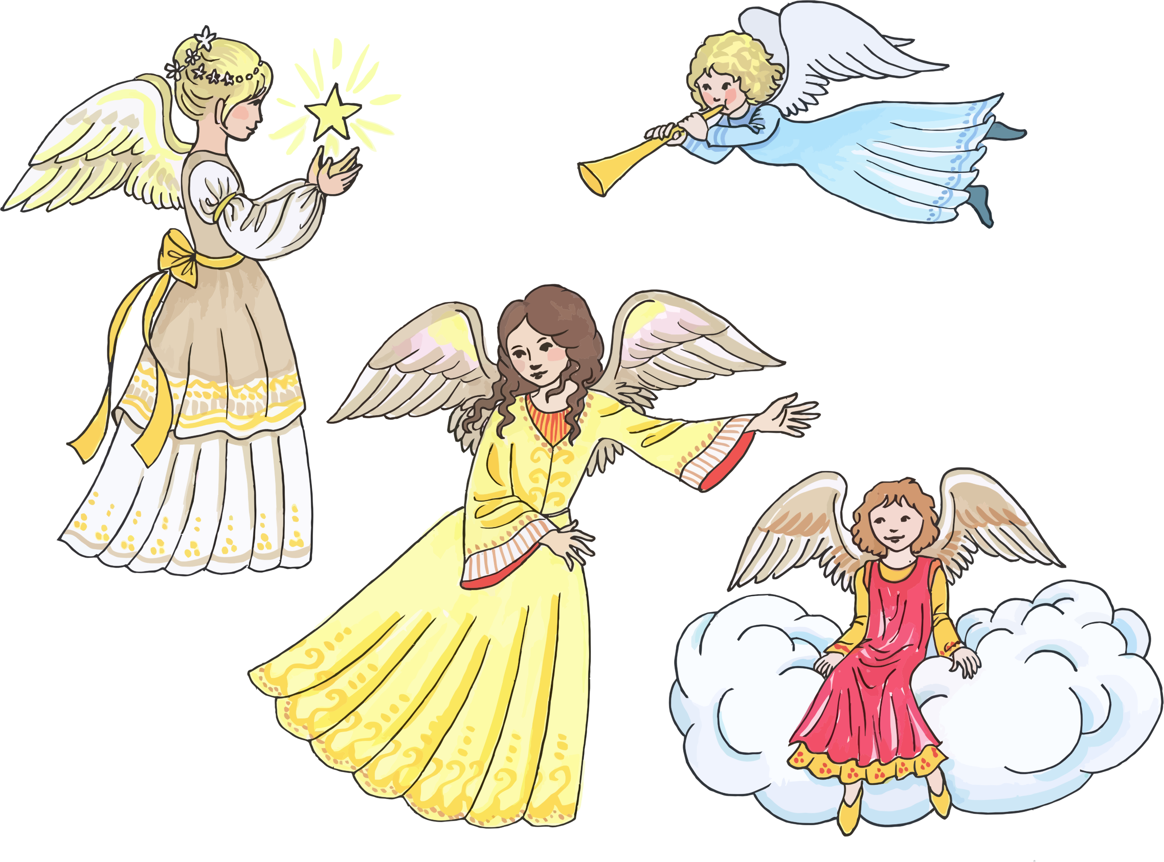Four Female Angels by GDJ