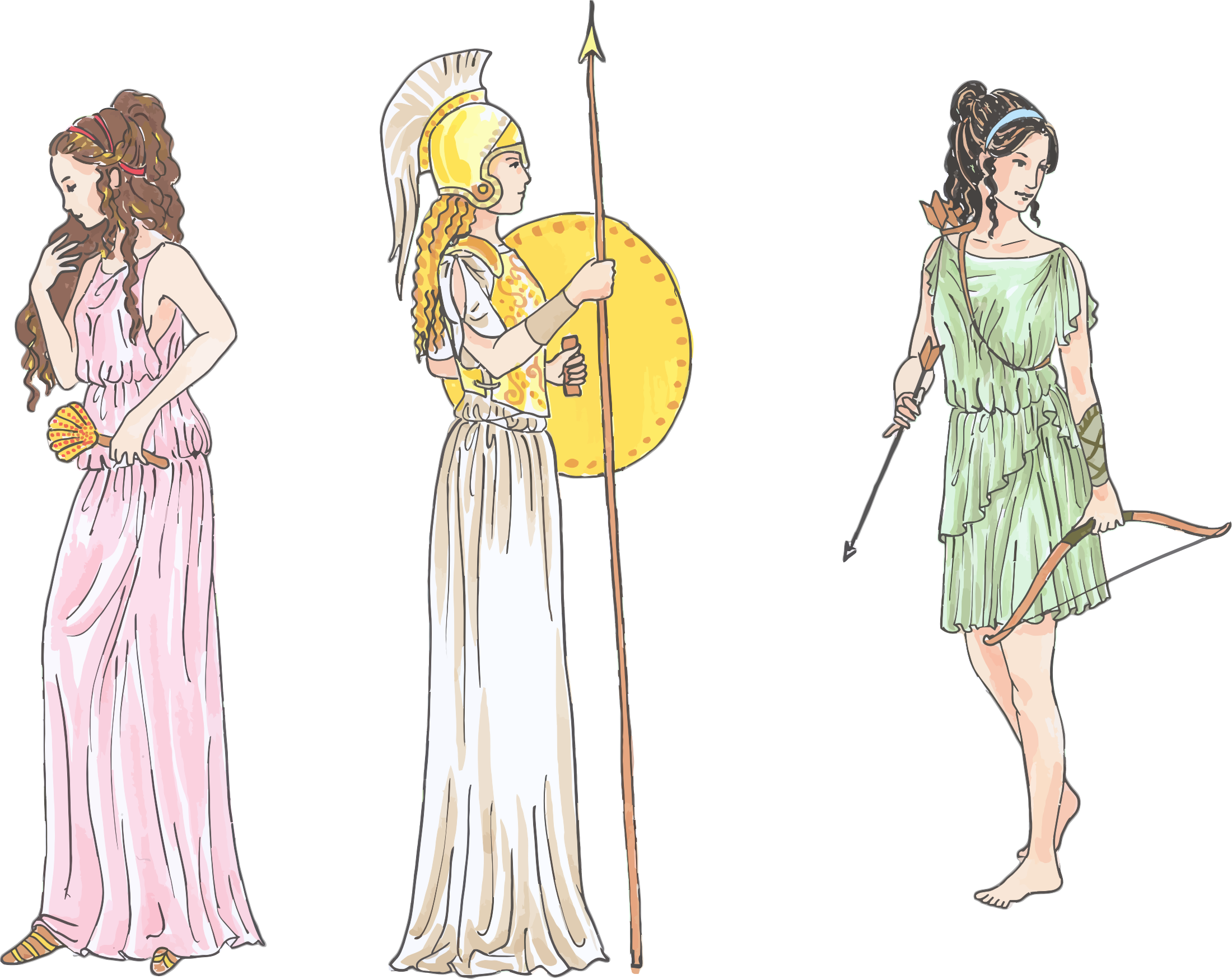 Female Mythological Figures by GDJ