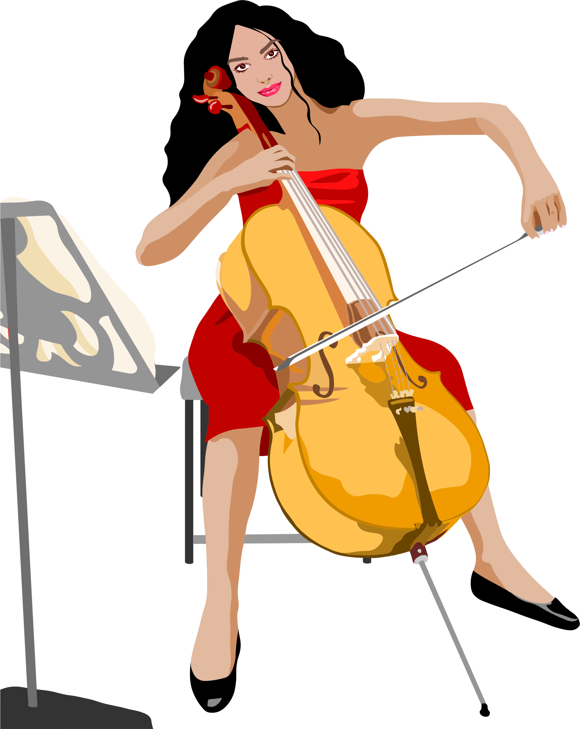 Female Cello Player by GDJ