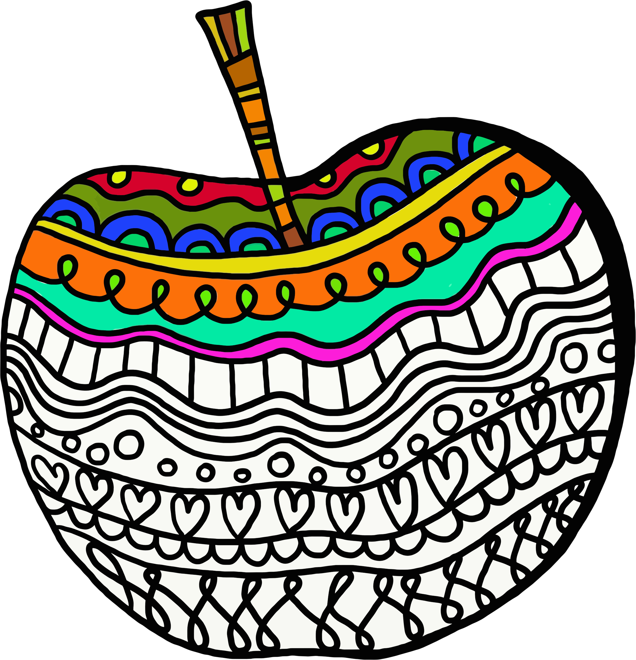 Colorful Decorated Apple by GDJ