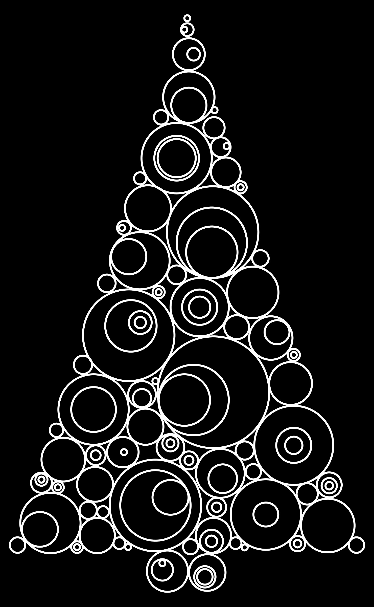 Abstract Circles Christmas Tree by GDJ