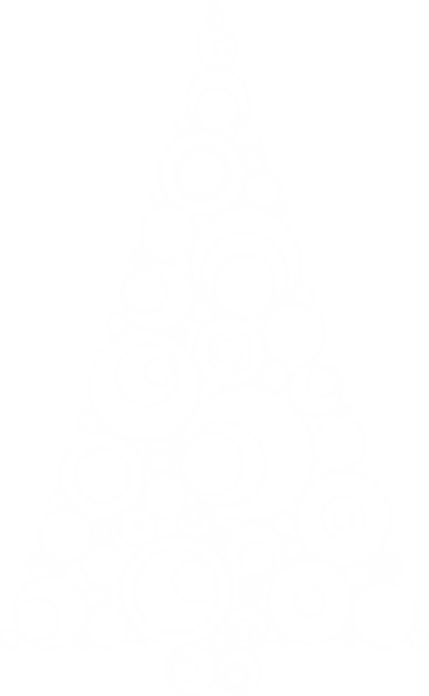 Abstract Circles Christmas Tree With No Background by GDJ