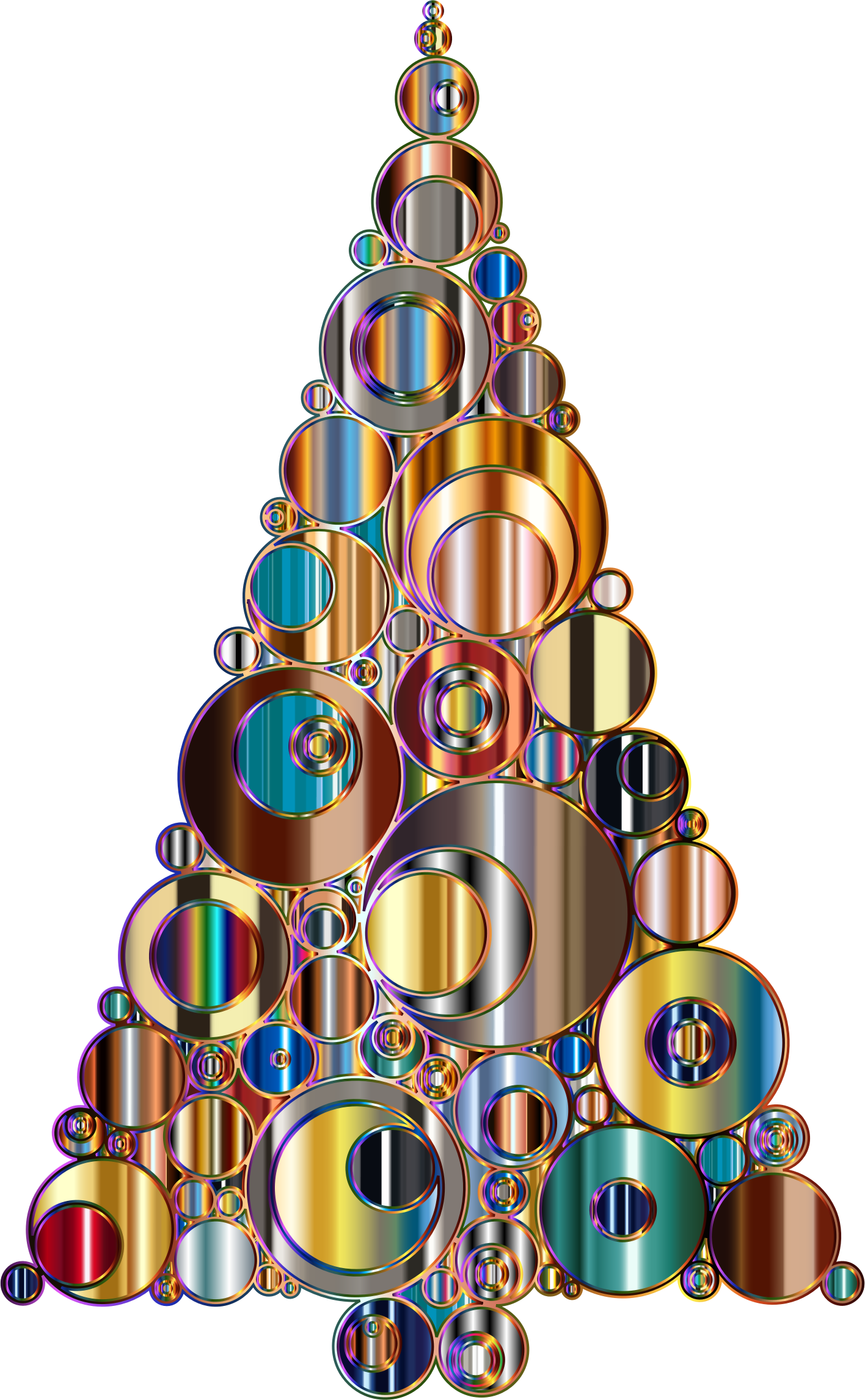 Colorful Abstract Circles Christmas Tree 6 Variation 2 by GDJ