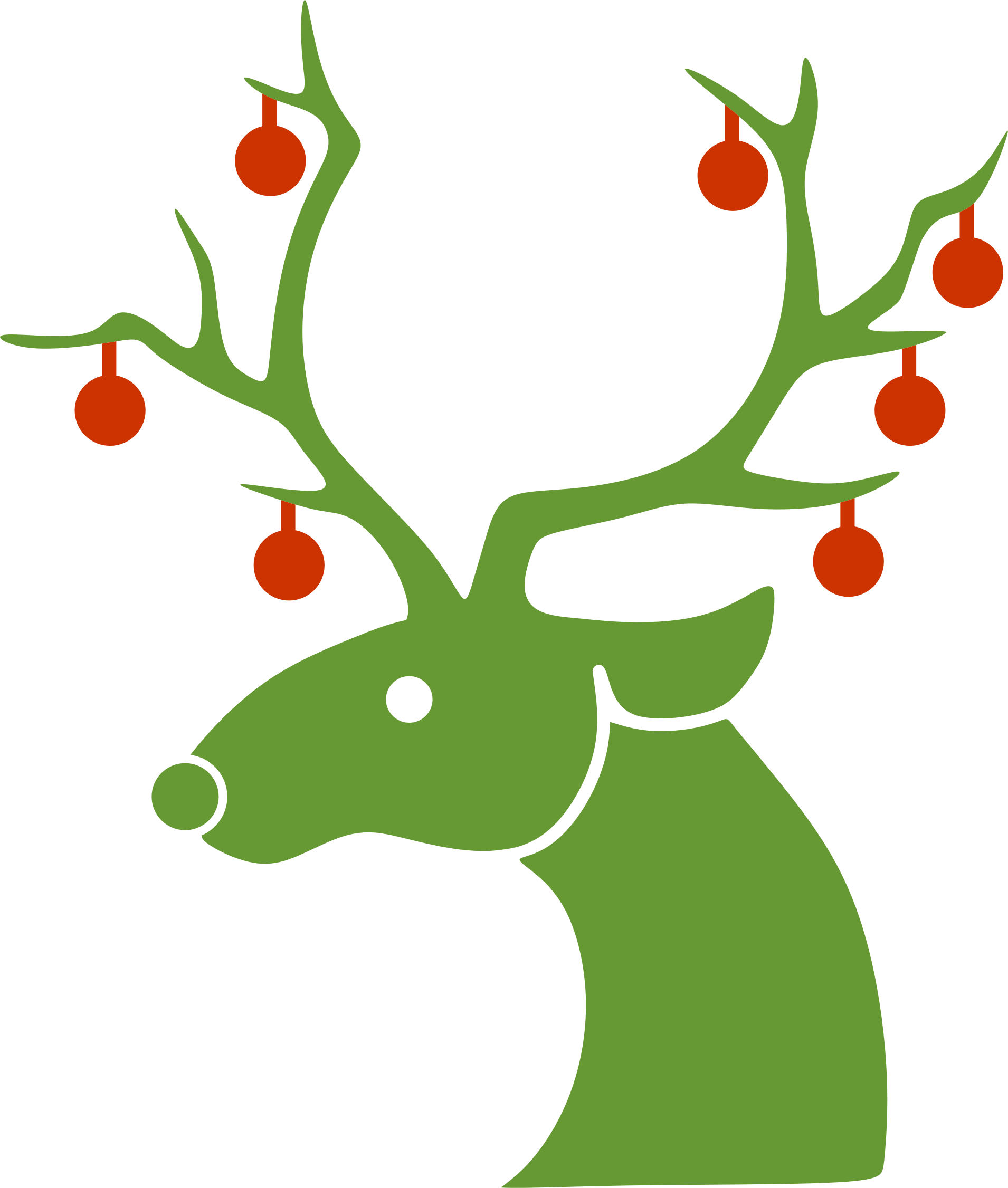 Christmas reindeer clipart - photo#18