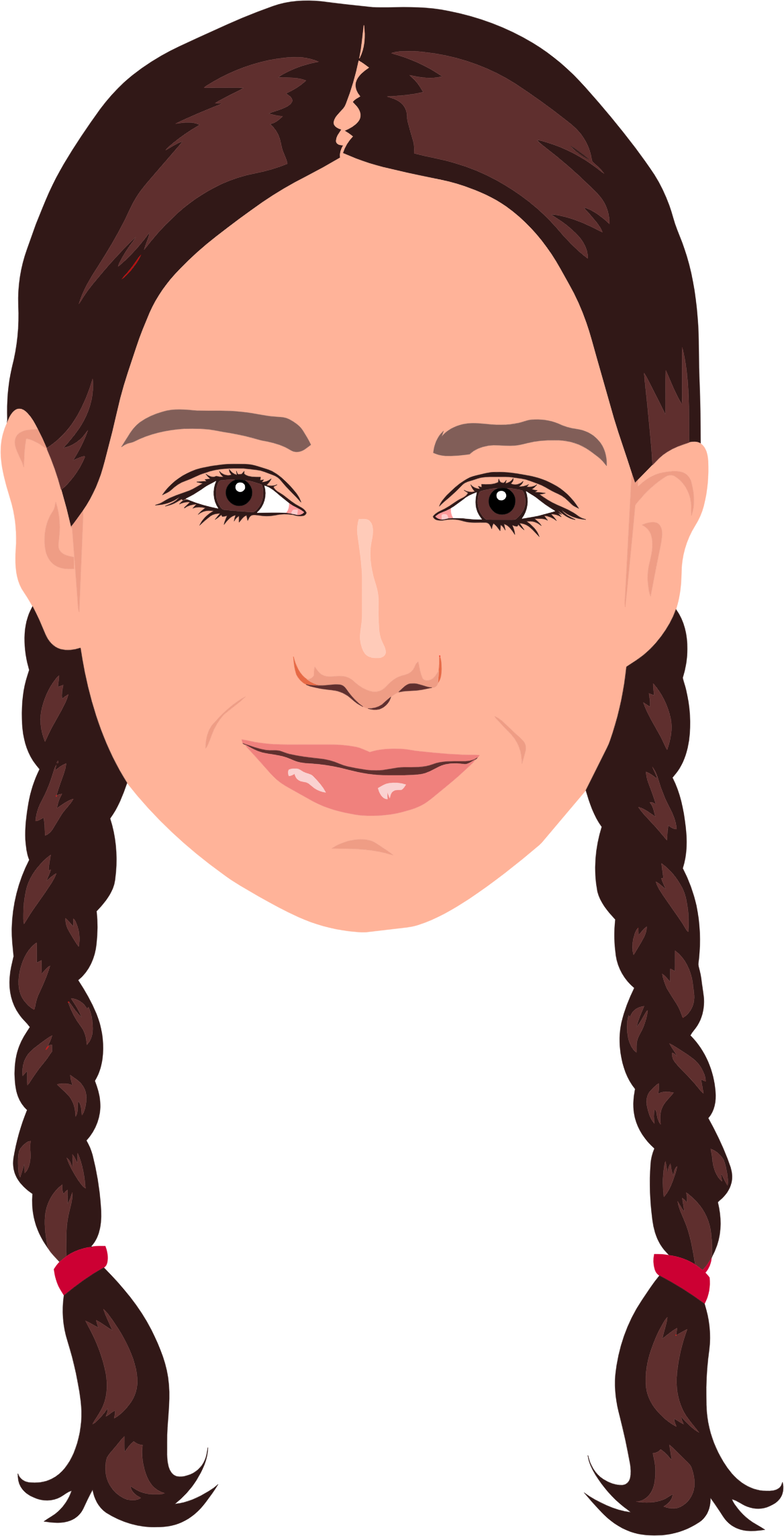 Braided Hair Girl Portrait by GDJ