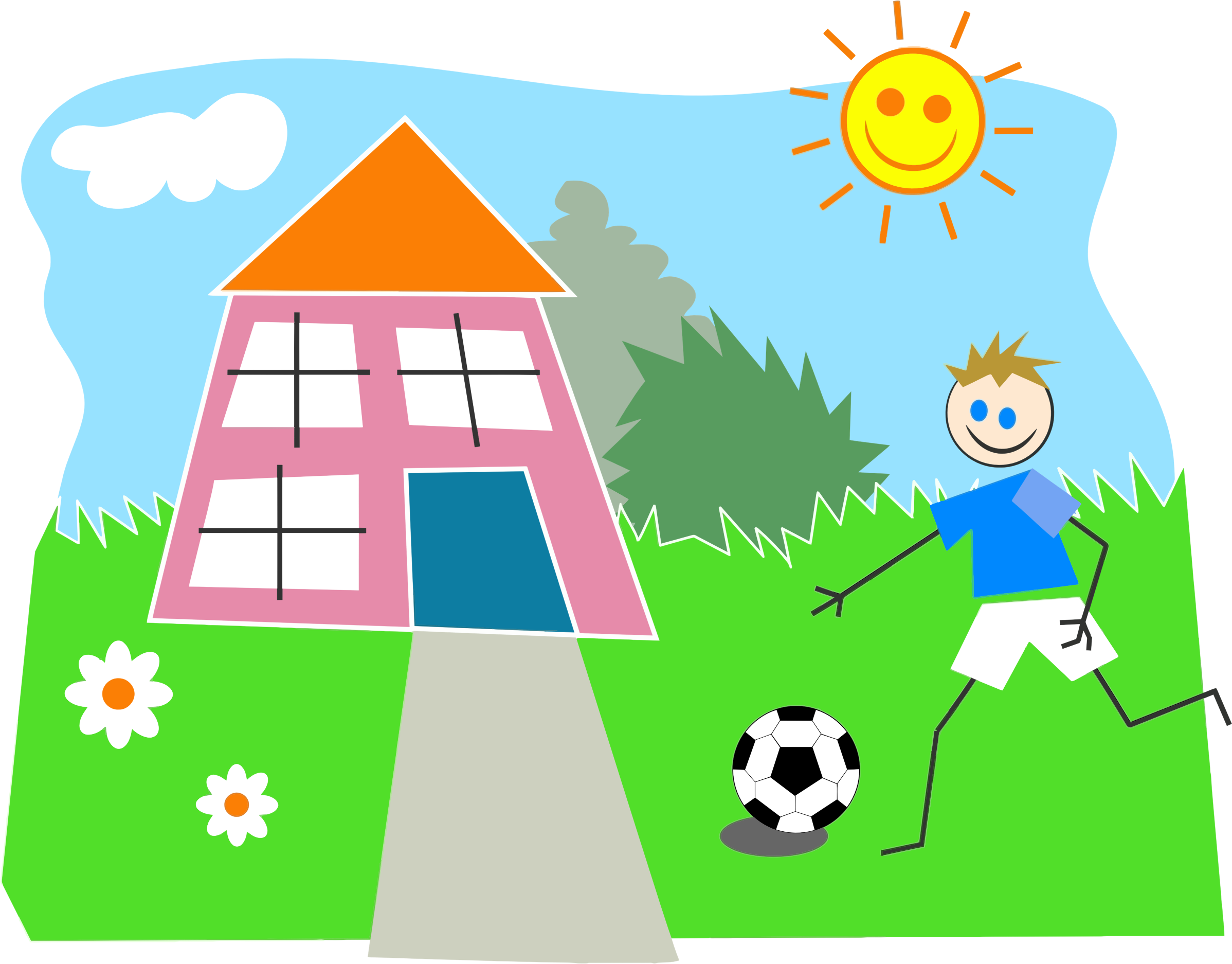 Playing outside clipart for Home setting images