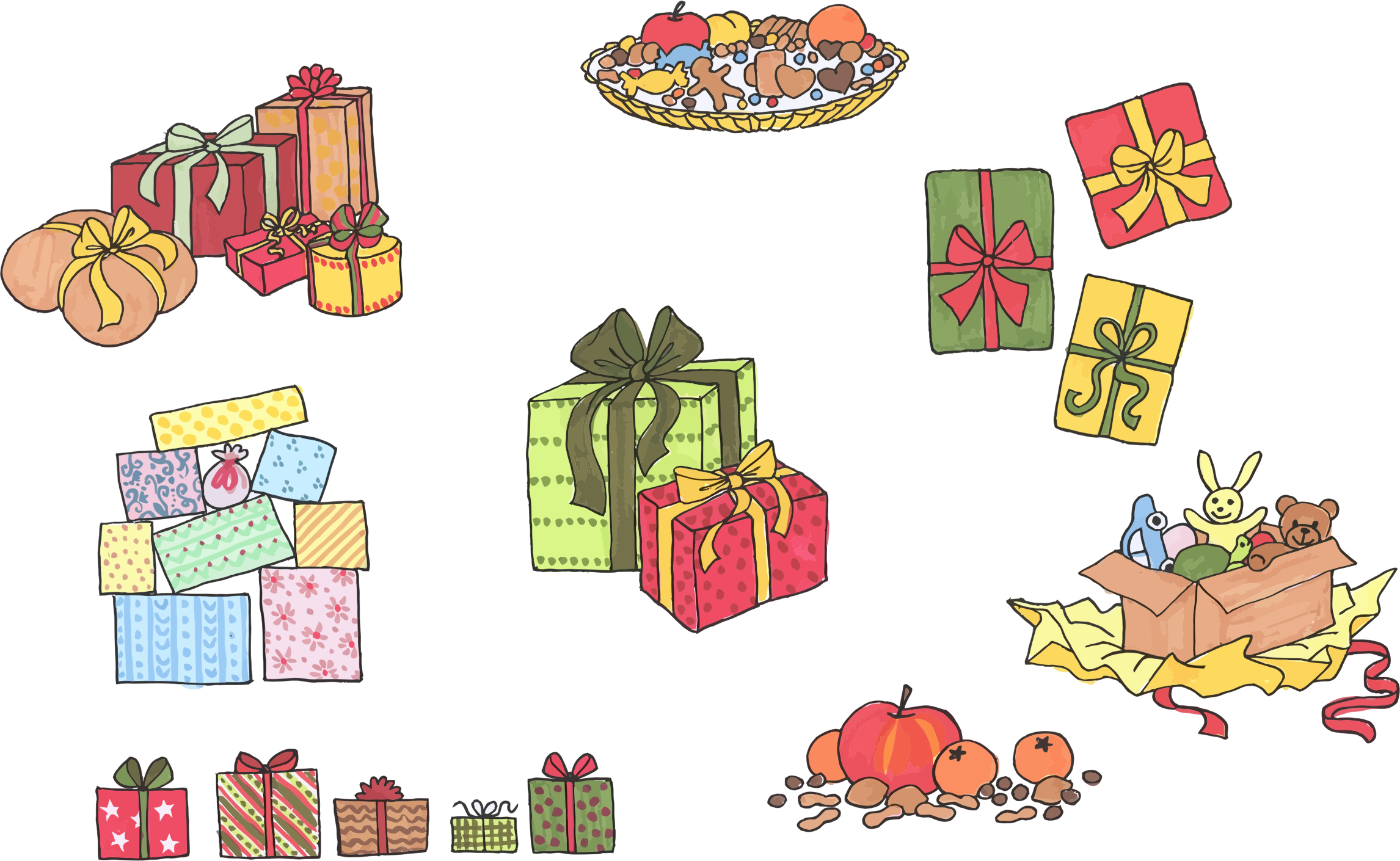 Assortment Of Gifts And Presents by GDJ