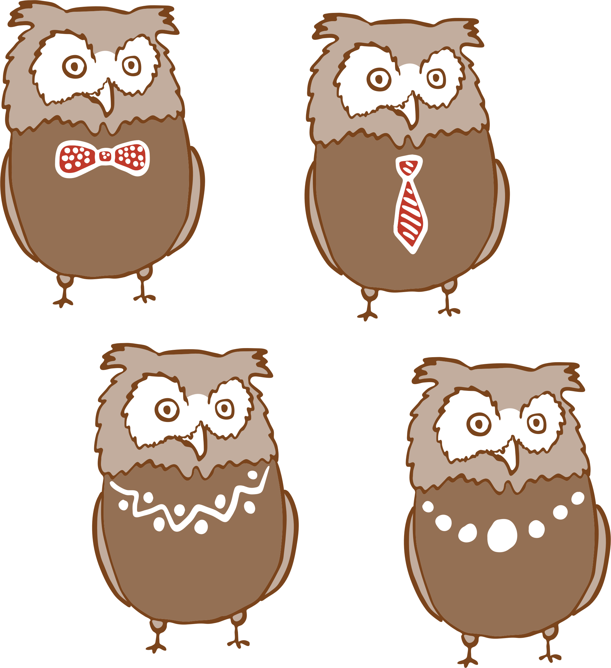 Anthropomorphic Owls by GDJ