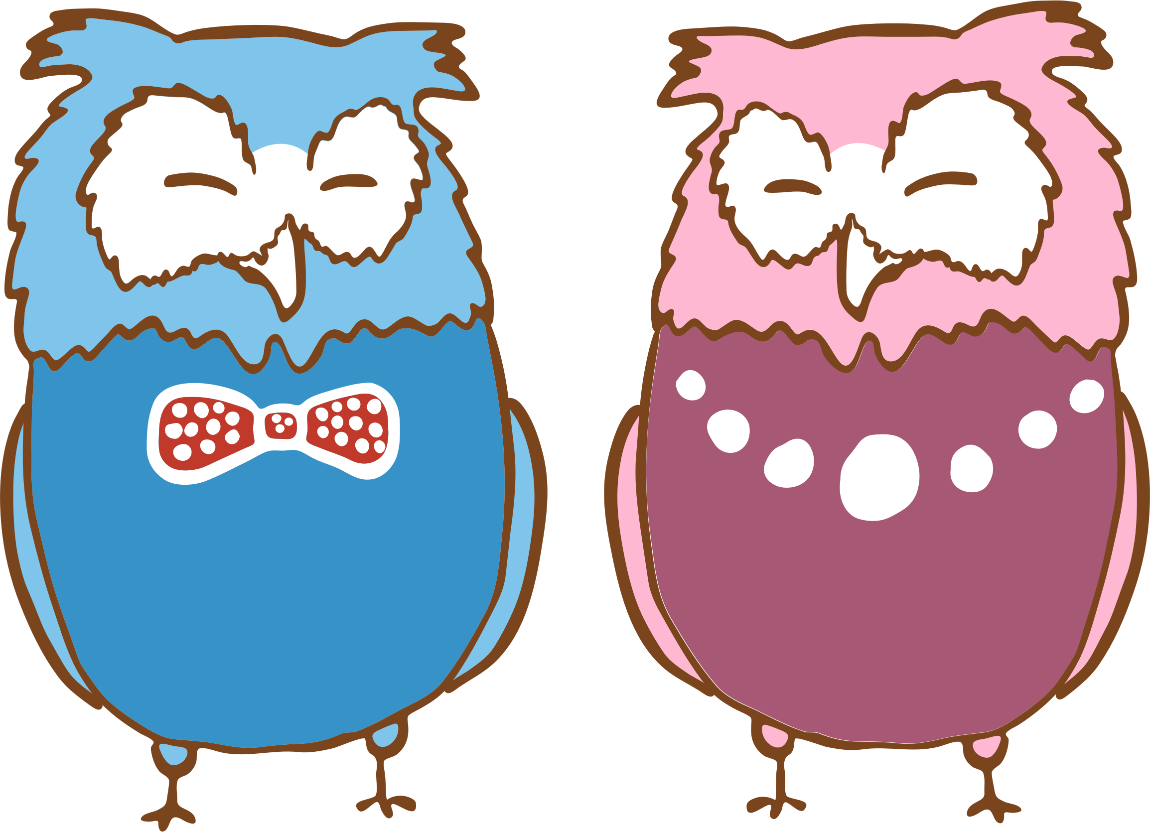 Anthropomorphic Owls 2 by GDJ