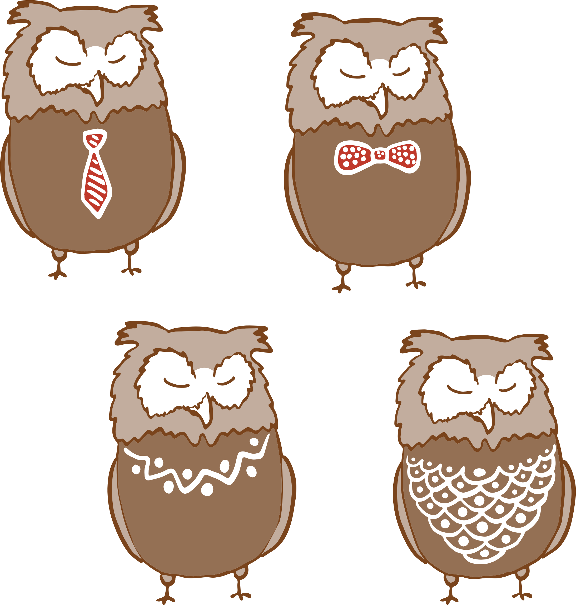 Anthropomorphic Owls 3 by GDJ