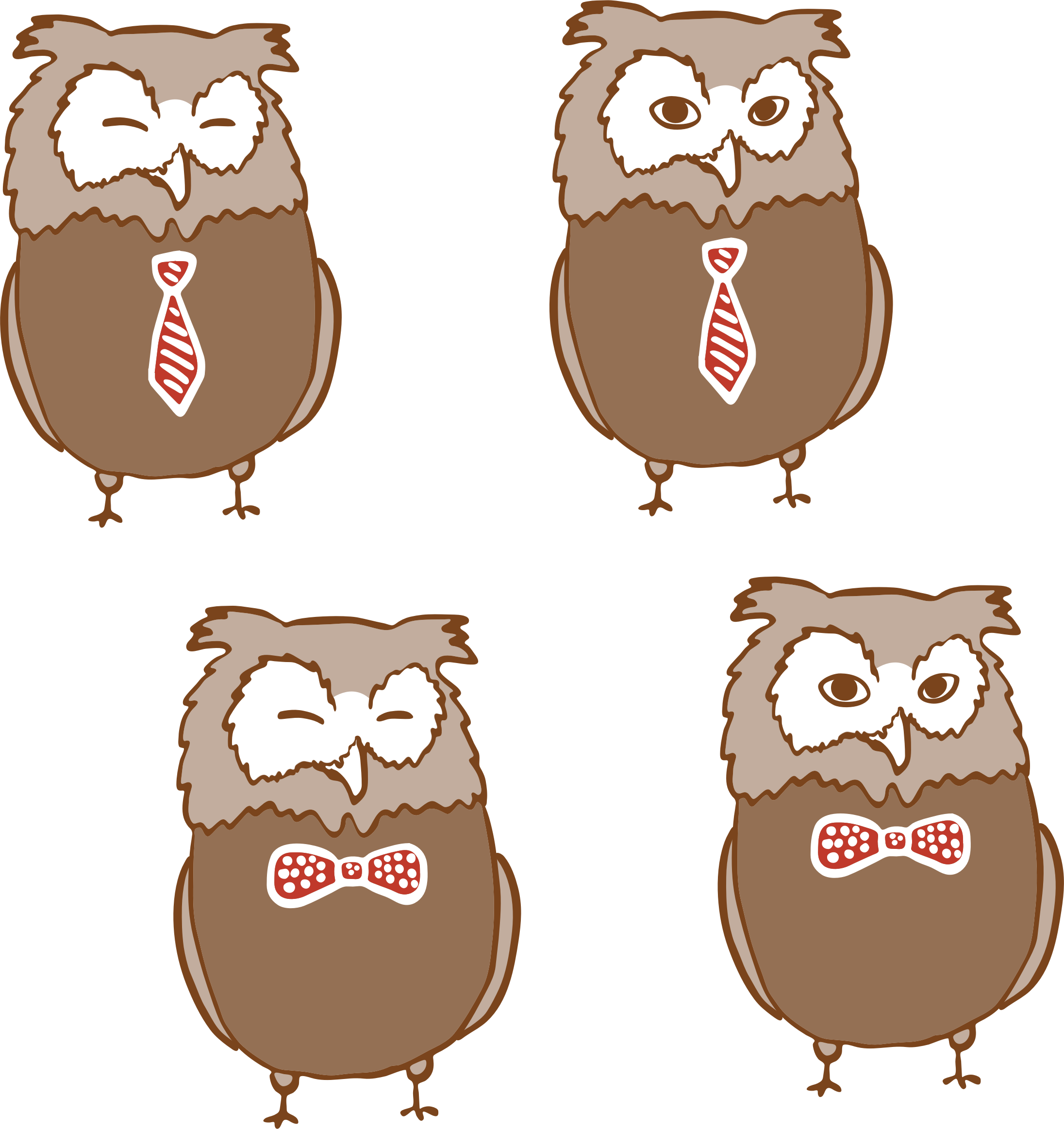 Anthropomorphic Owls 4 by GDJ