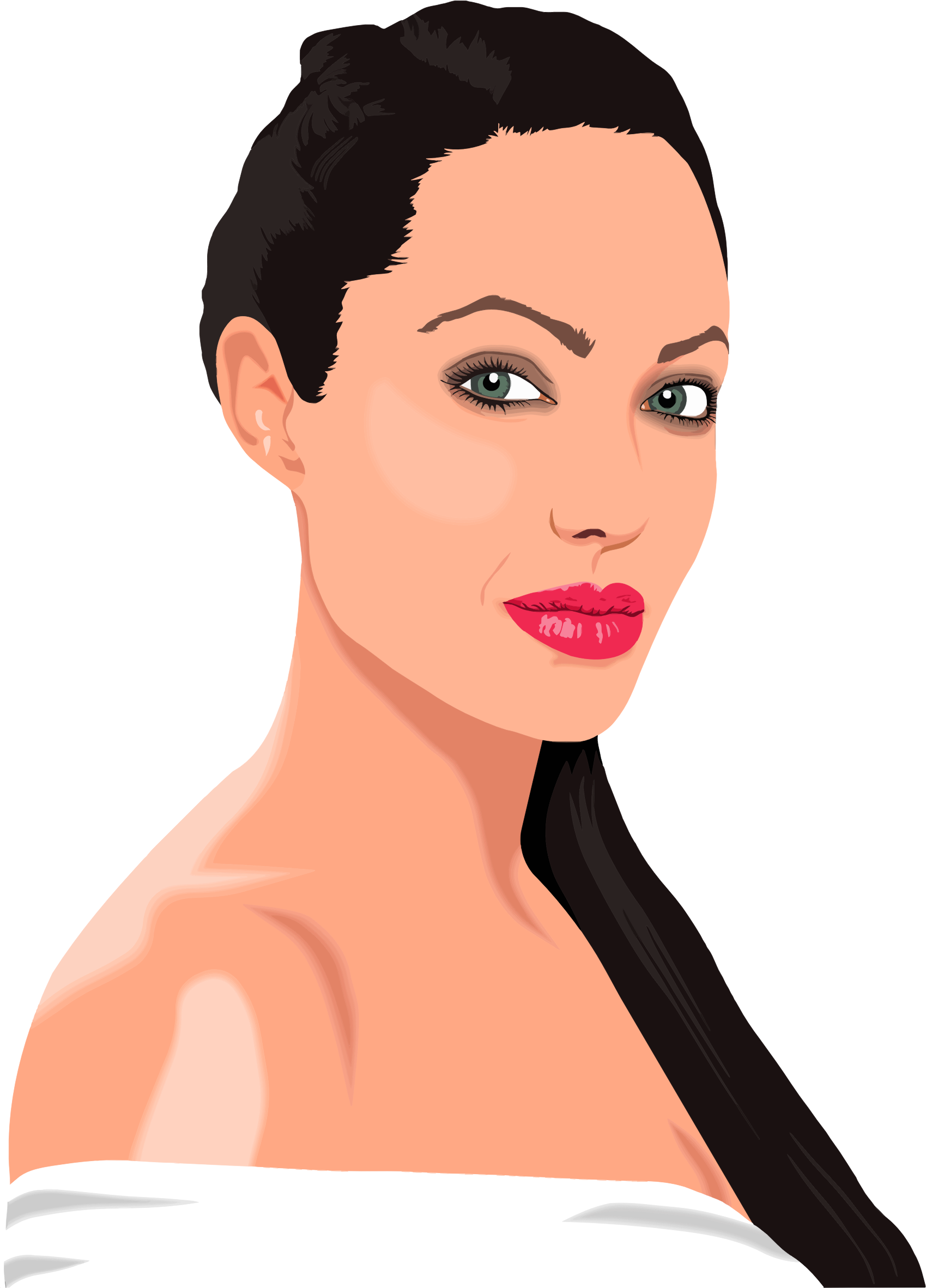 Angelina Jolie Portrait by GDJ