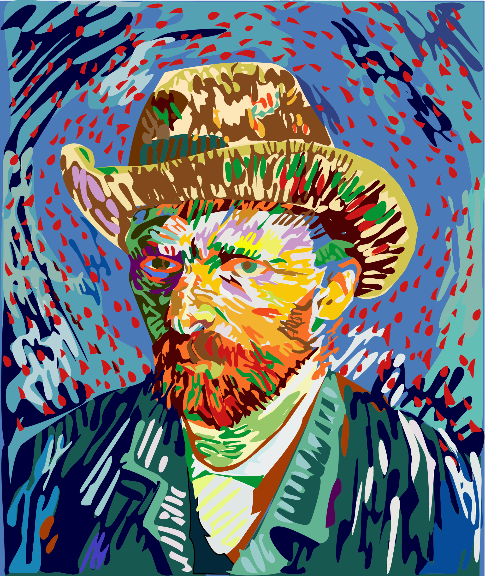 Abstract Vincent Van Gogh Portrait by GDJ