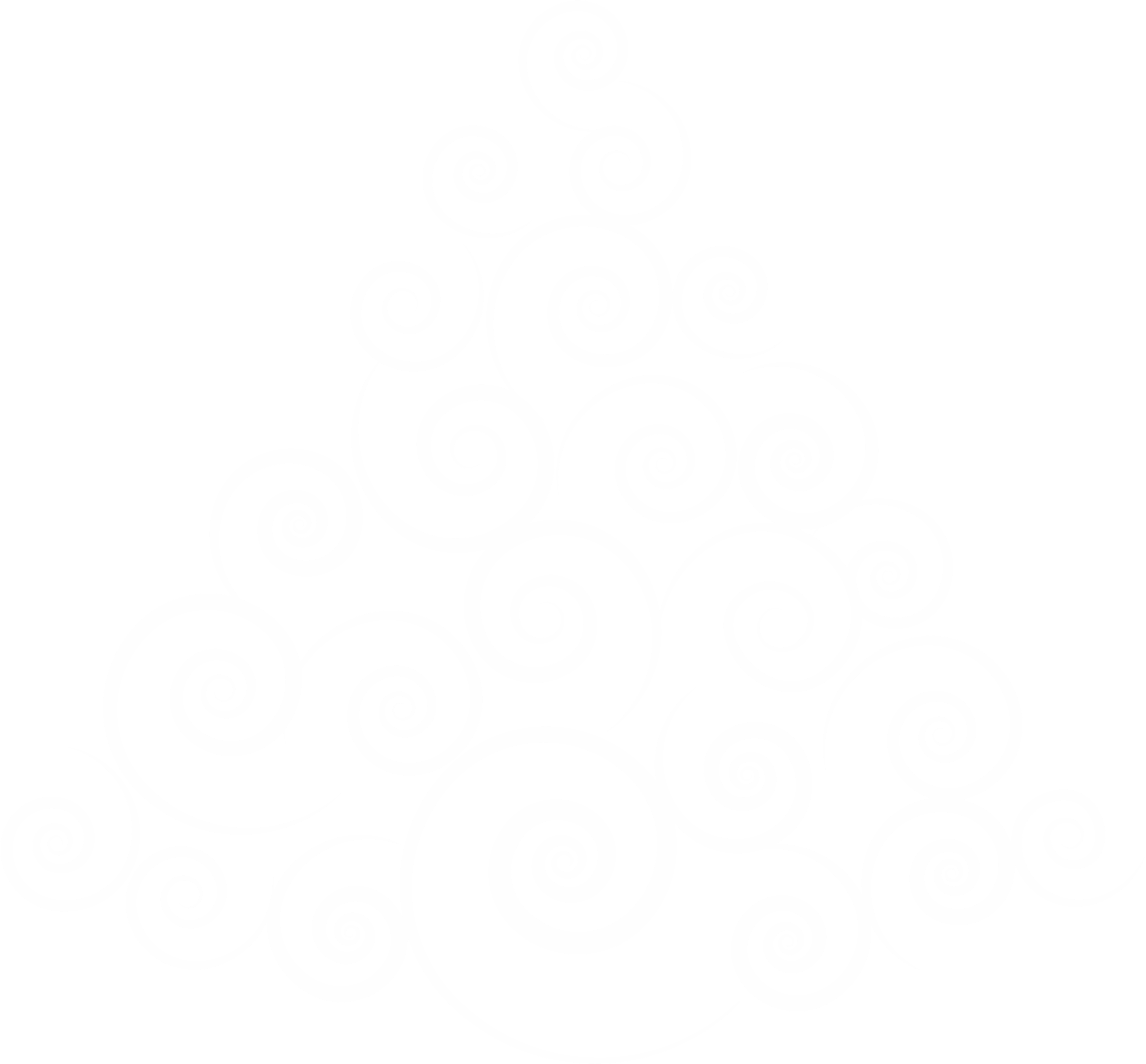 Abstract Spiral Christmas Tree White No Background by GDJ