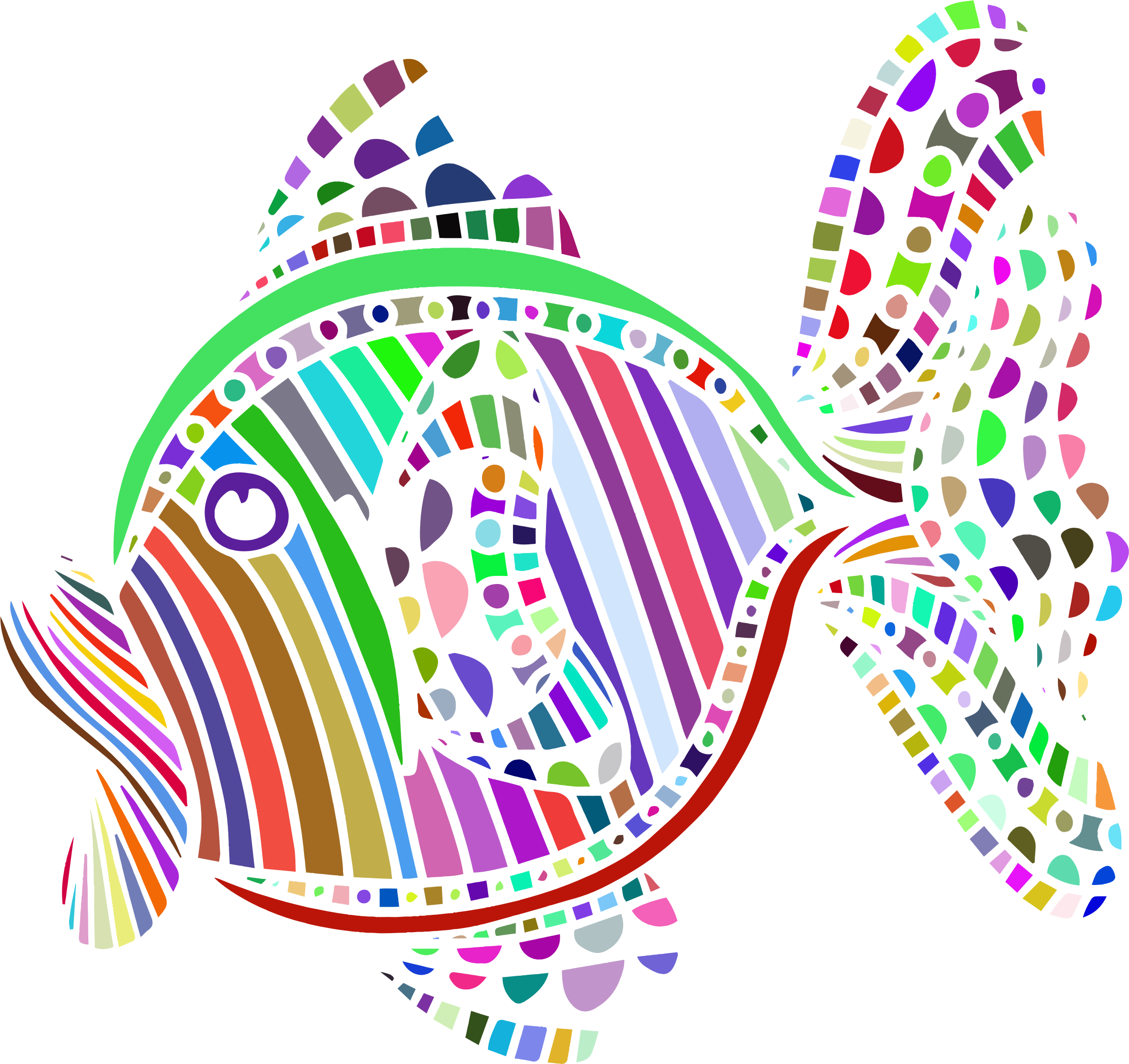 Abstract Colorful Fish by GDJ