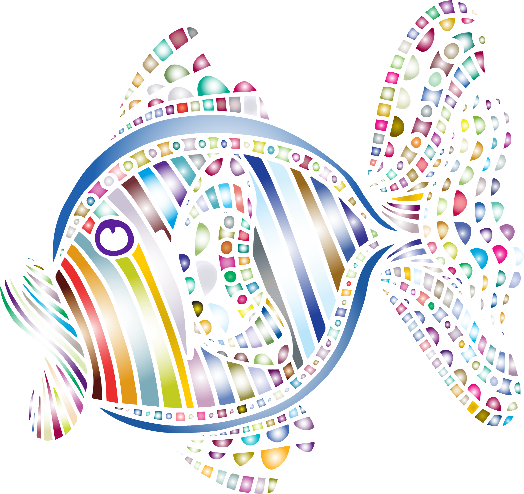 Abstract Colorful Fish 5 by GDJ