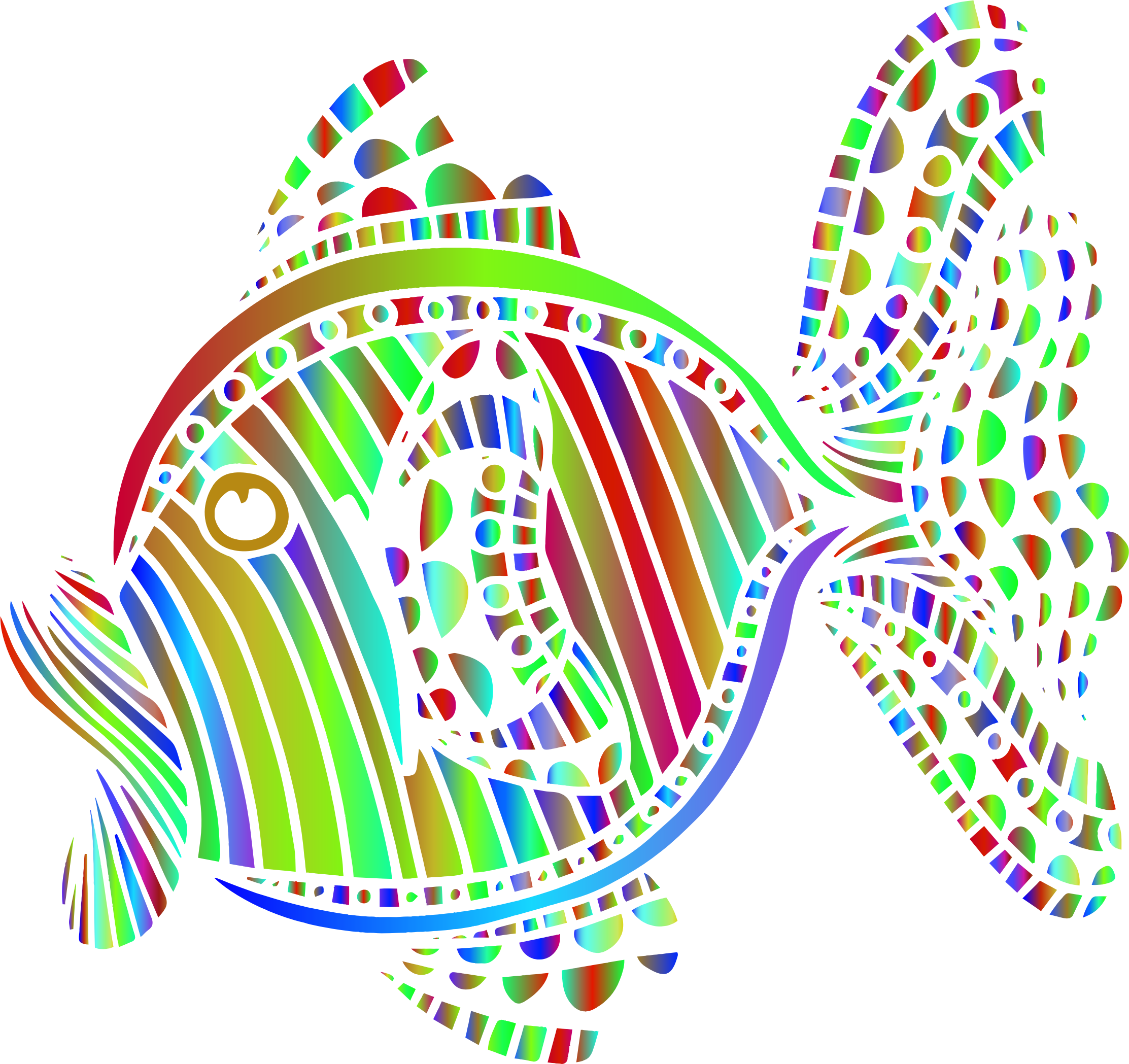 Abstract Colorful Fish 7 by GDJ