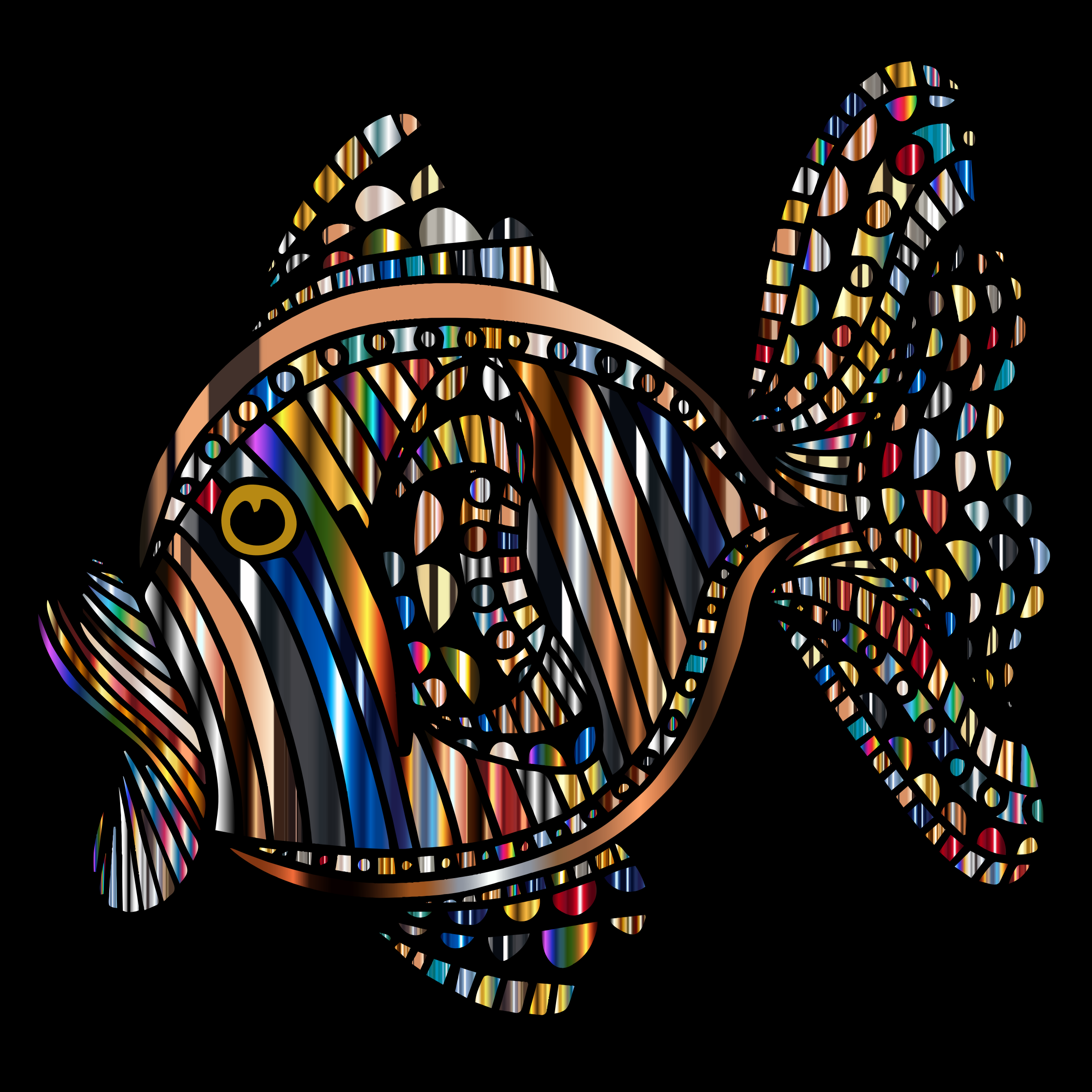 Abstract Colorful Fish 8 With Background by GDJ