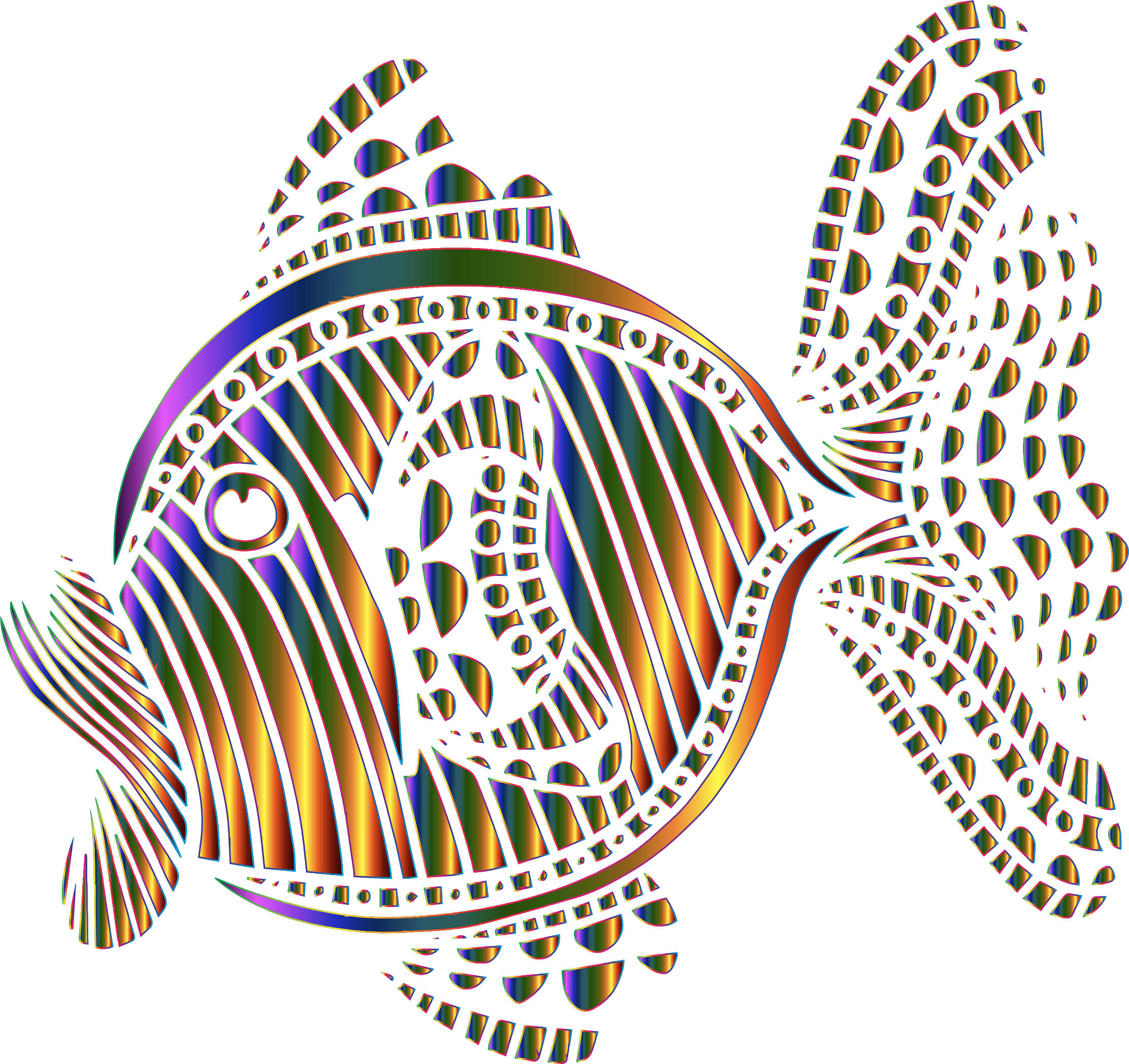 Abstract Colorful Fish 9 by GDJ
