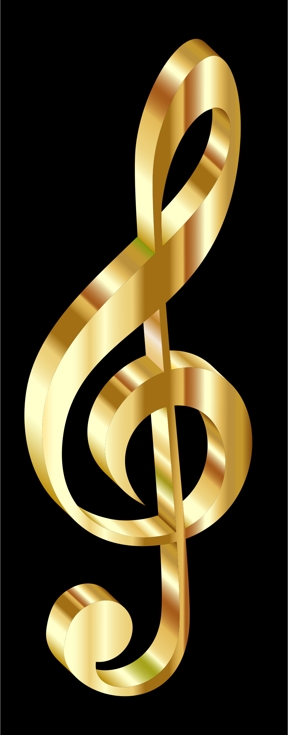 Gold 3D Clef by GDJ