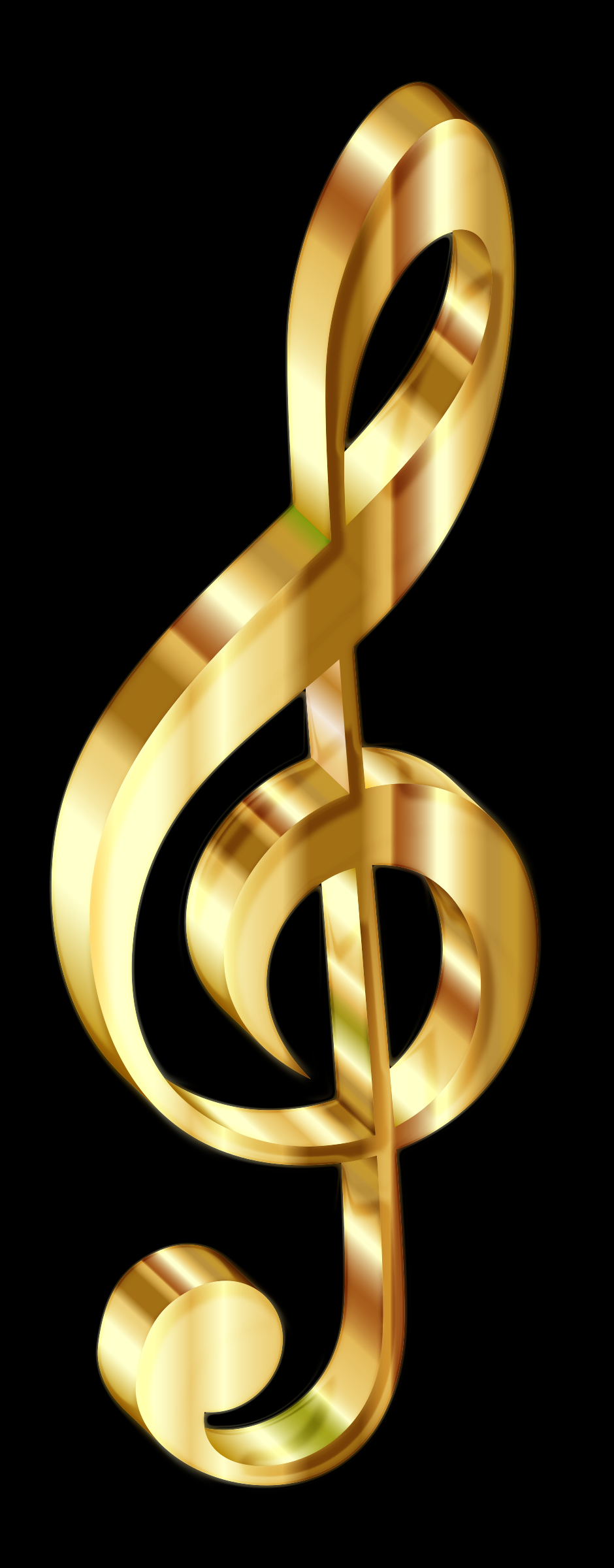 Gold 3D Clef Enhanced by GDJ