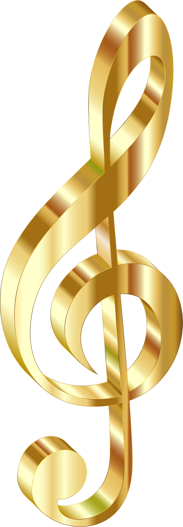 Gold 3D Clef 2 No Background by GDJ