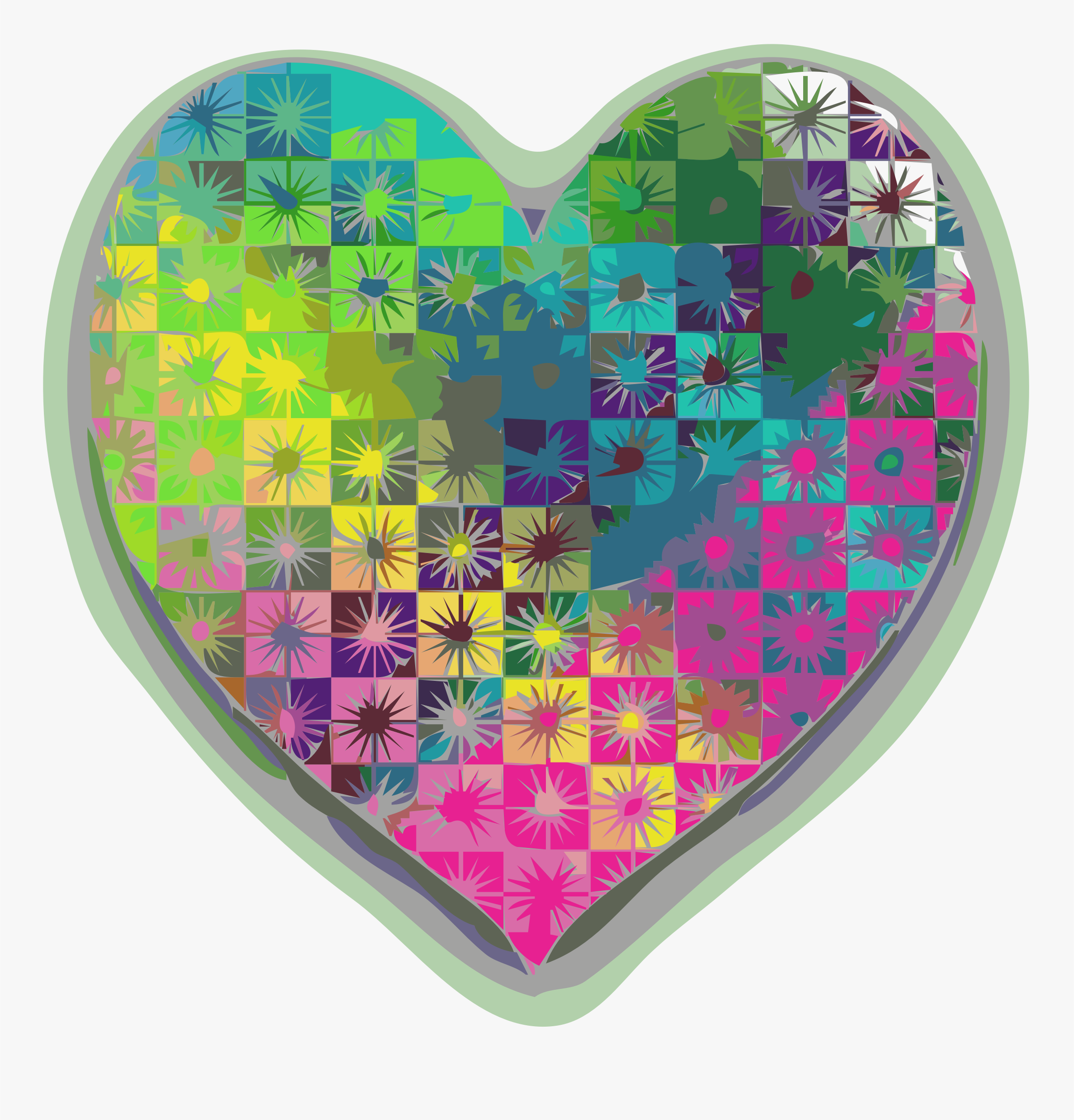 Kaleidoscope Hearts 1 by Bevgal3