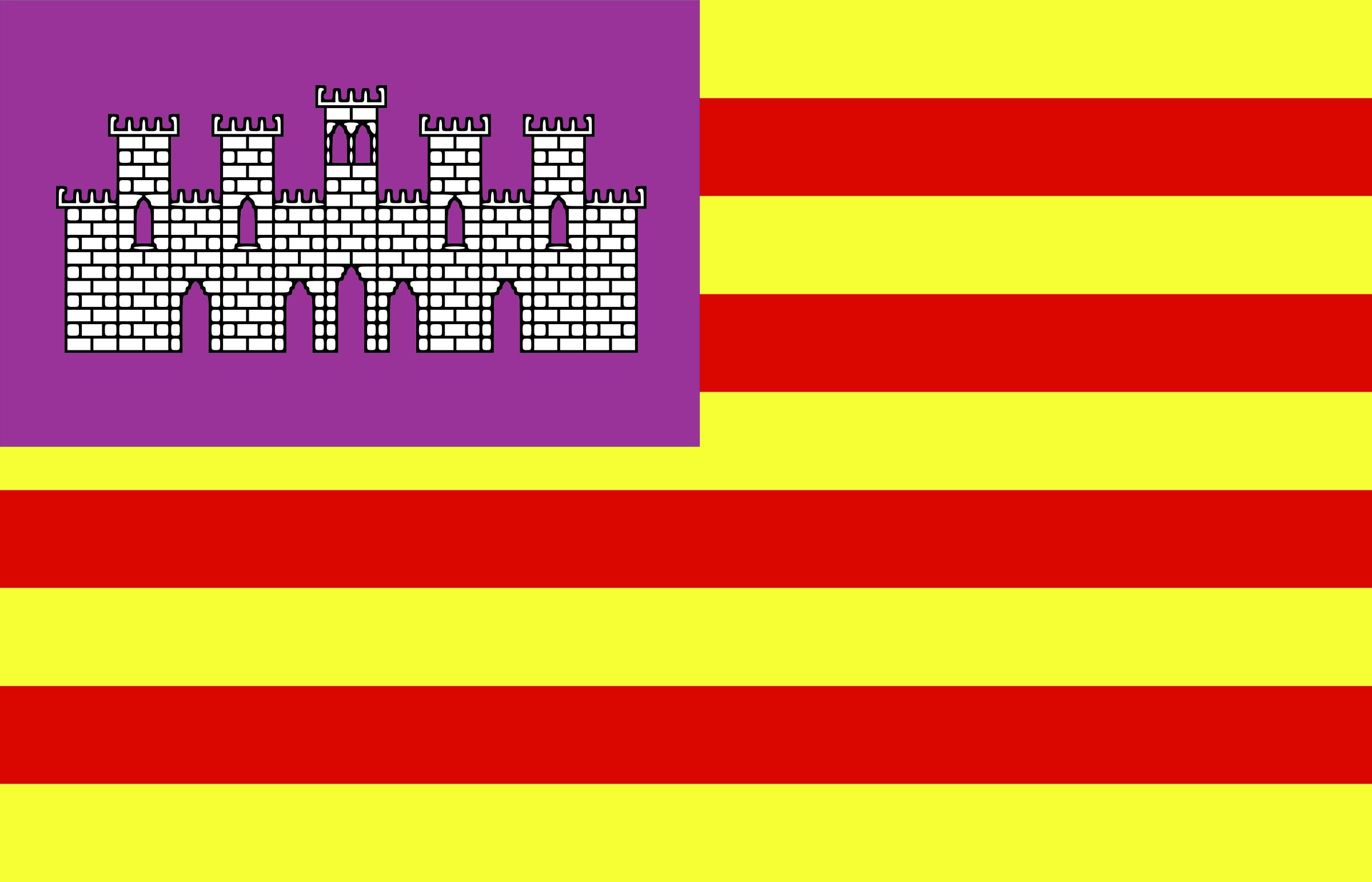 Flag of Baleares - Spain by Anonymous