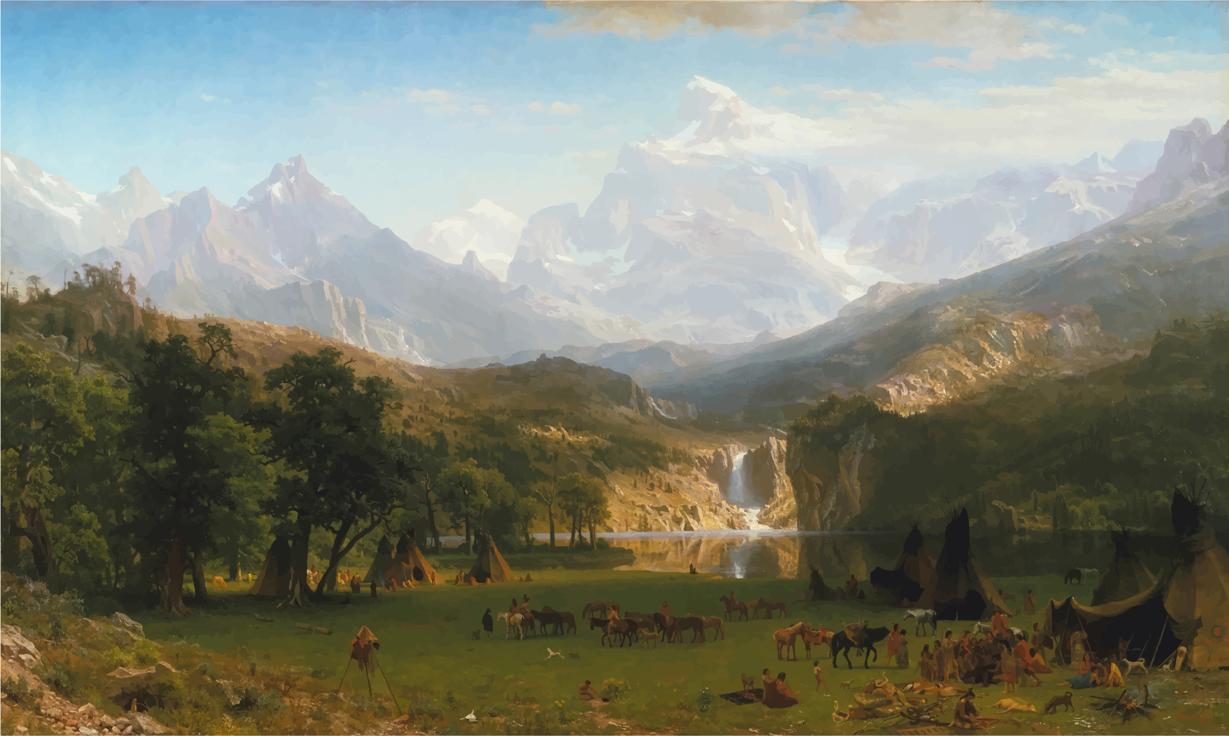 The Rocky Mountains Landers Peak By Albert Bierstadt by GDJ