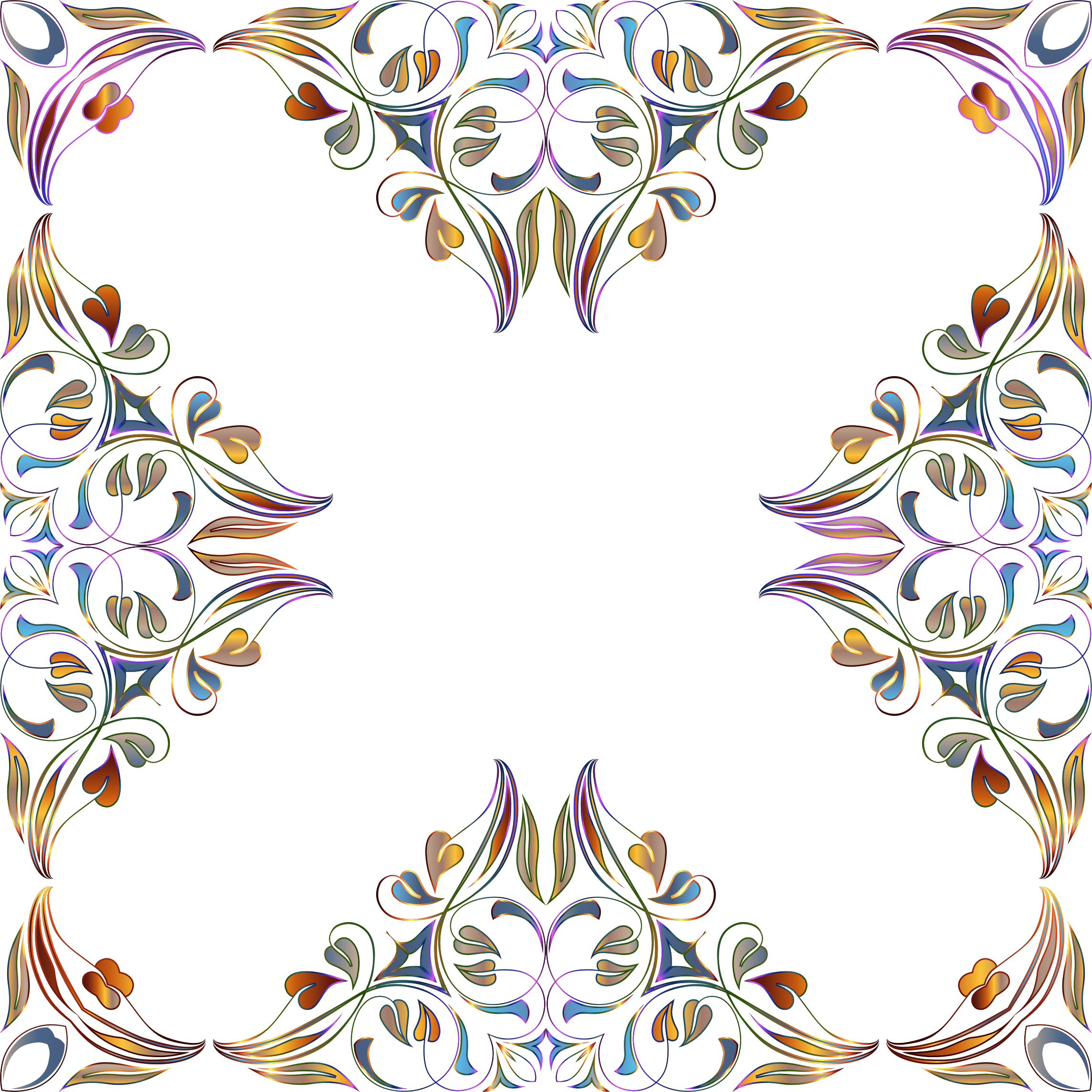Floral Flourish Frame 28 by GDJ
