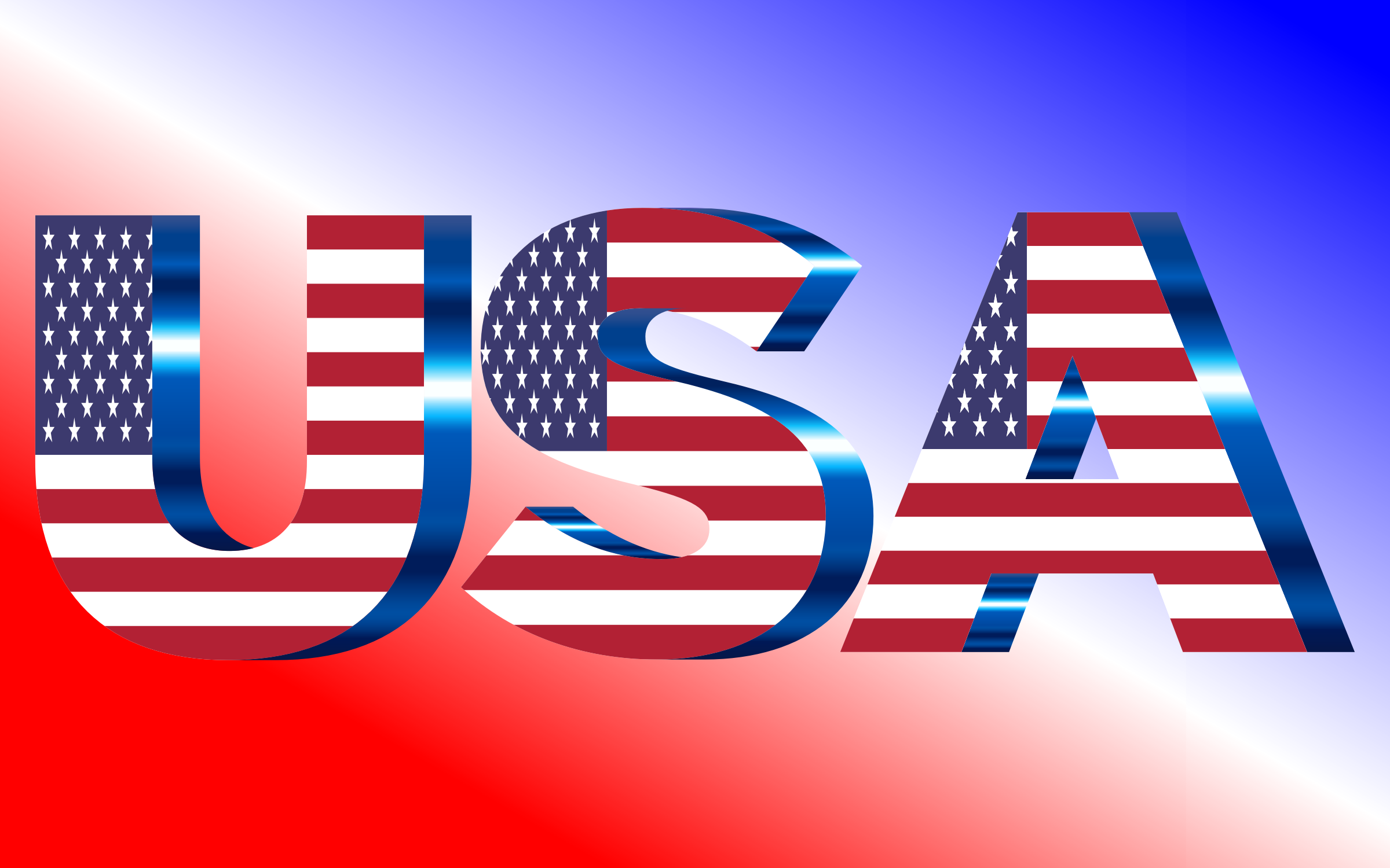 USA Flag Typography No Filters by GDJ
