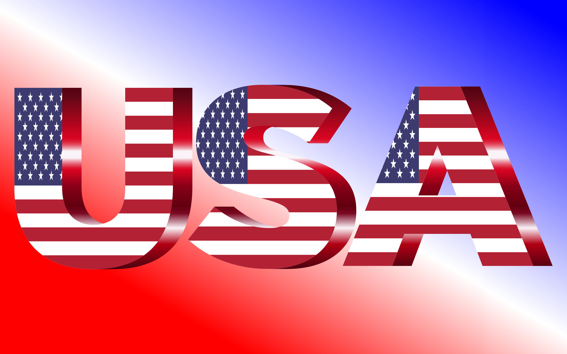 USA Flag Typography Crimson by GDJ