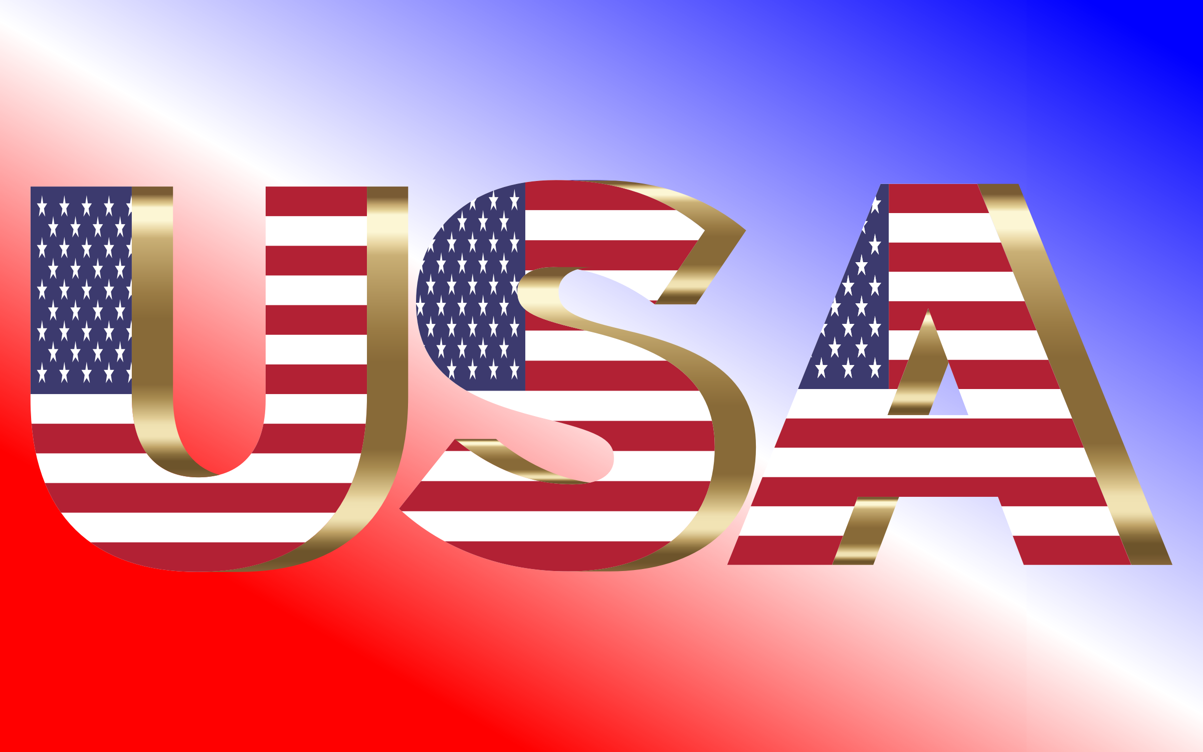 USA Flag Typography Copper by GDJ