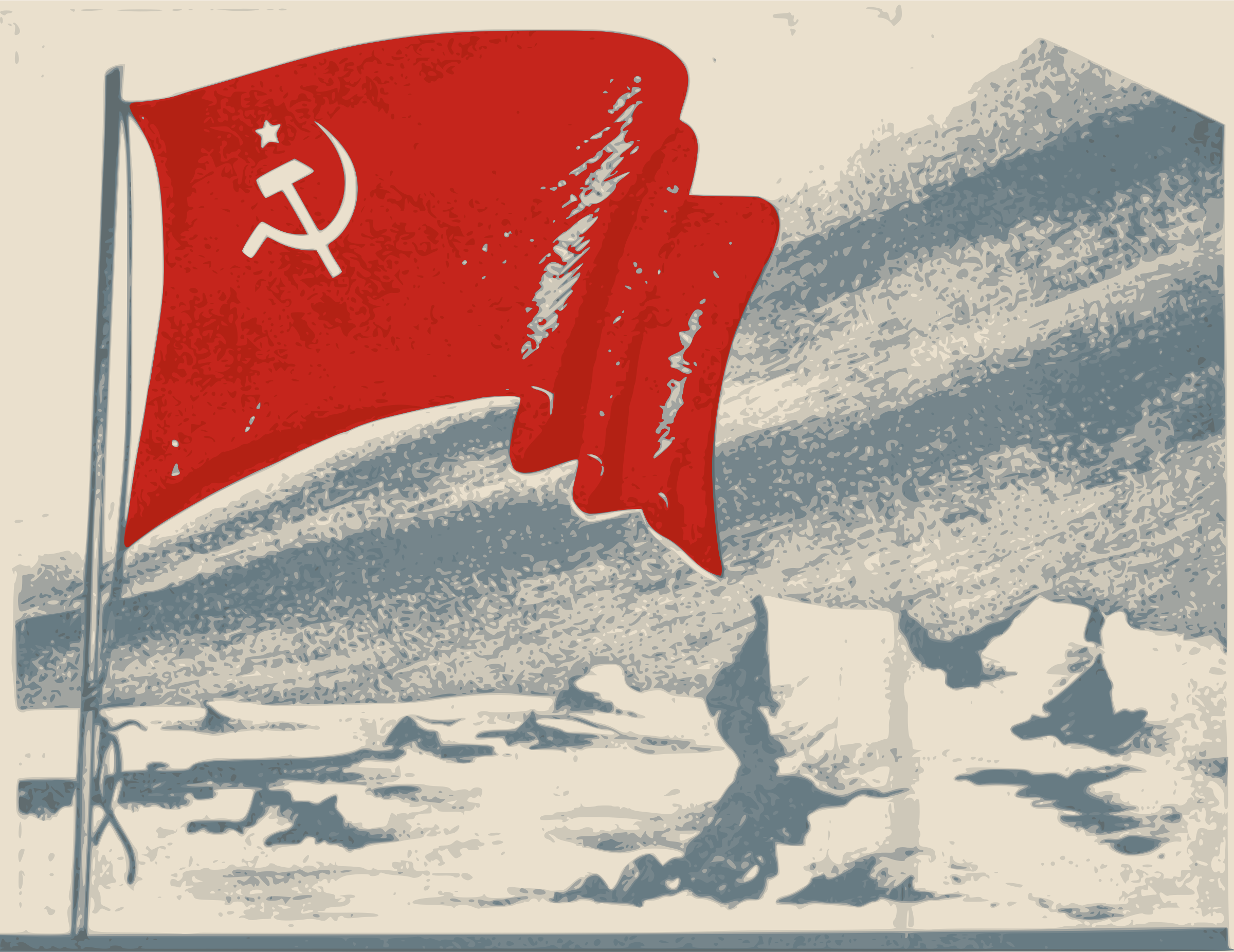 Old Soviet Flag by j4p4n