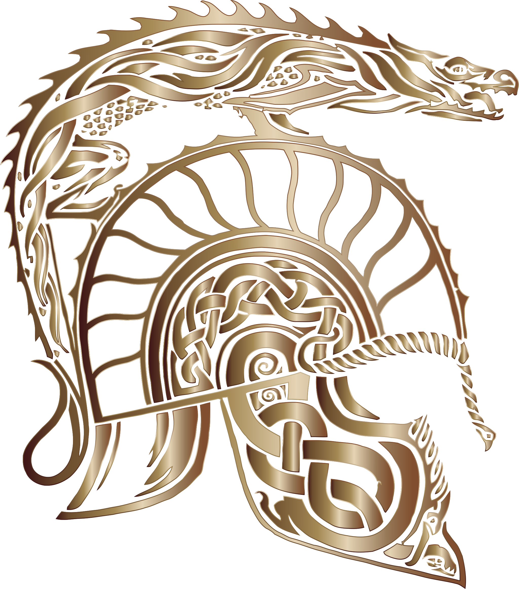 Children Of Hurin Dragon Helm Bronze No Background by GDJ